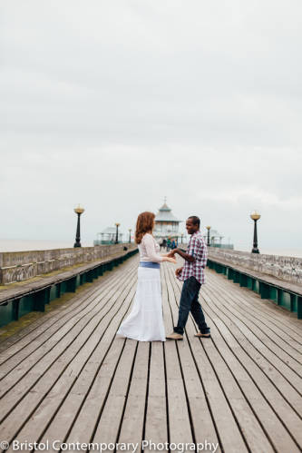 Engagement Shoot on Clevedon Pier
