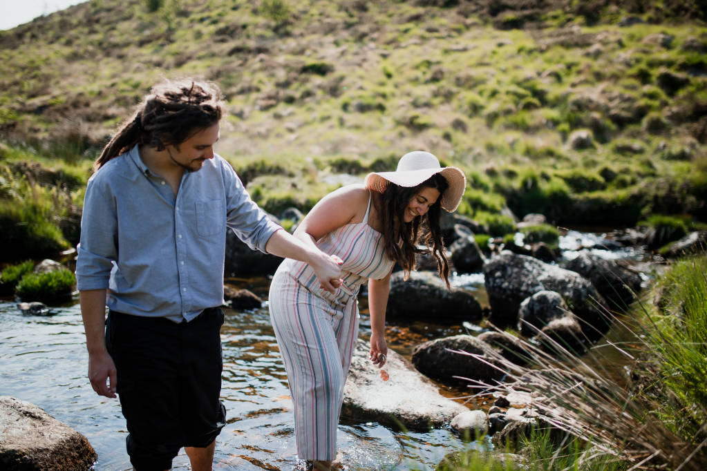 Engagement shoot photographer dartmoor