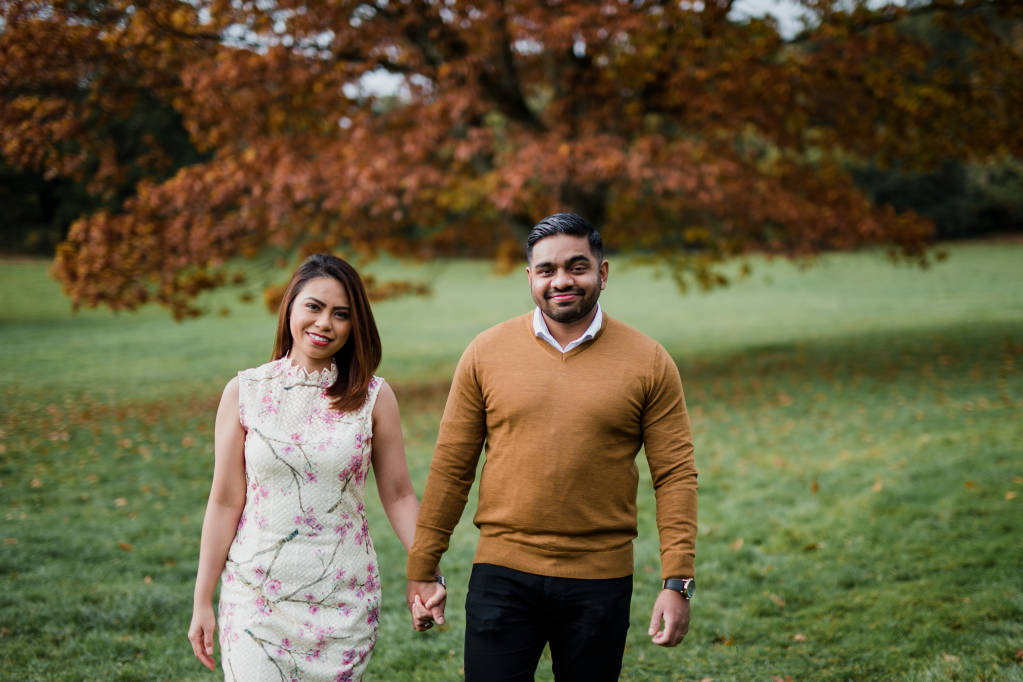 engagement shoot at Ashton Court