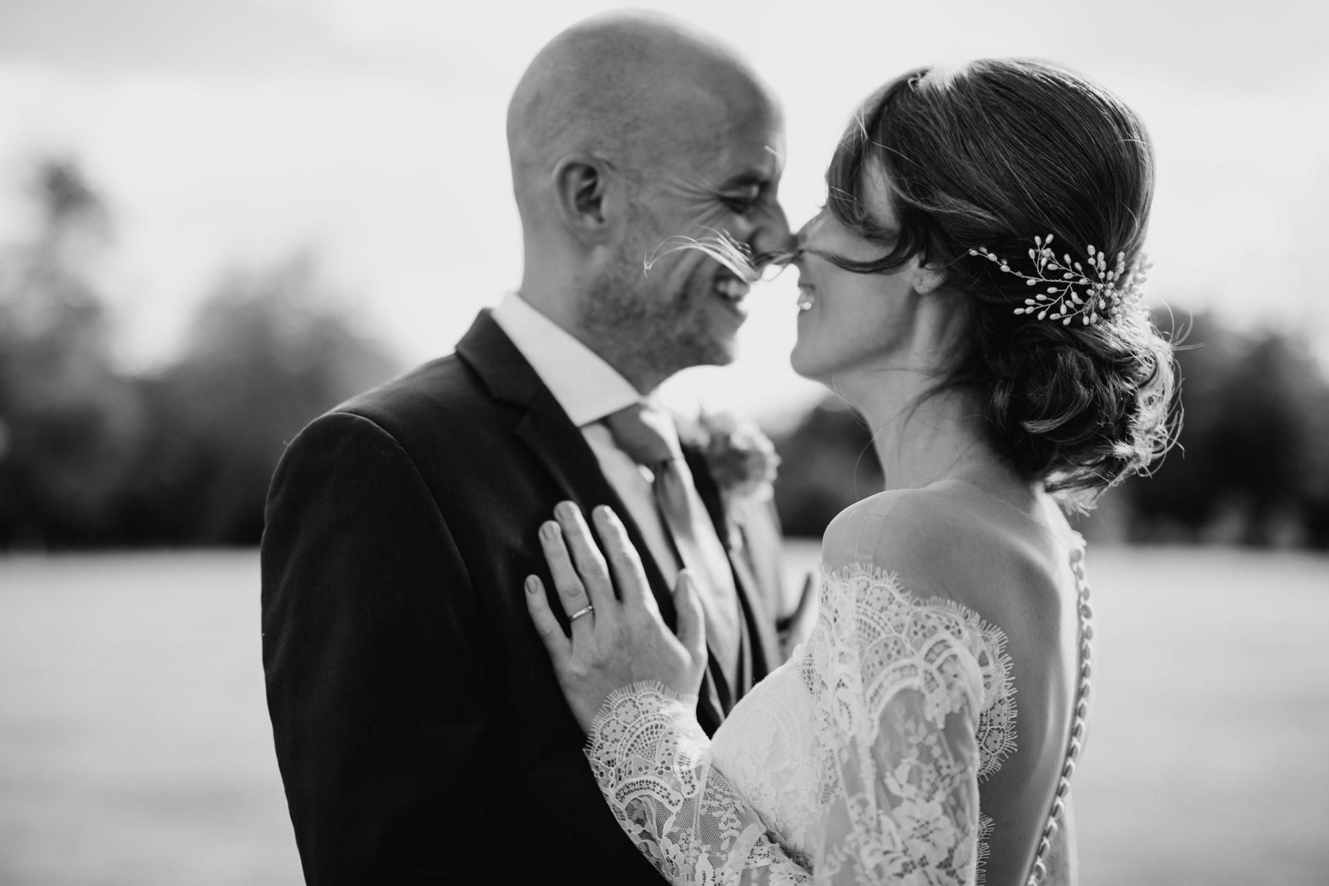 dramatic wedding portrait