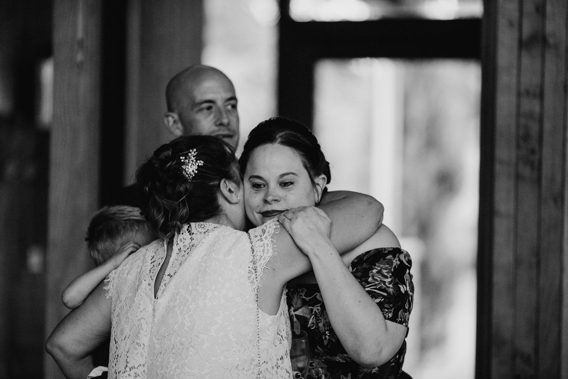 emotional moment hug