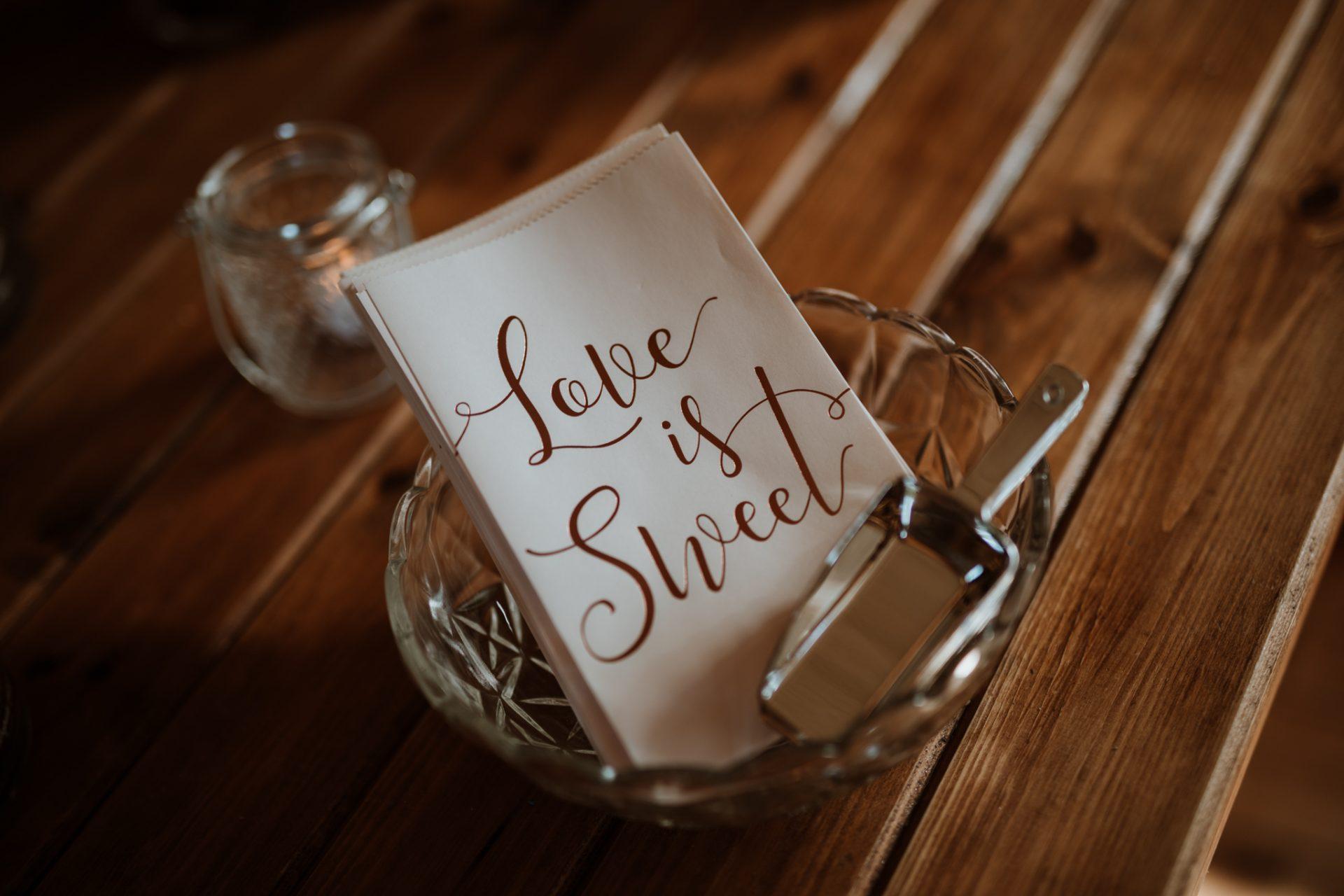 love is sweet buffet table