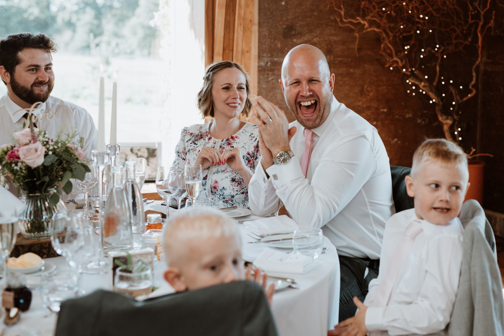 guests clapping
