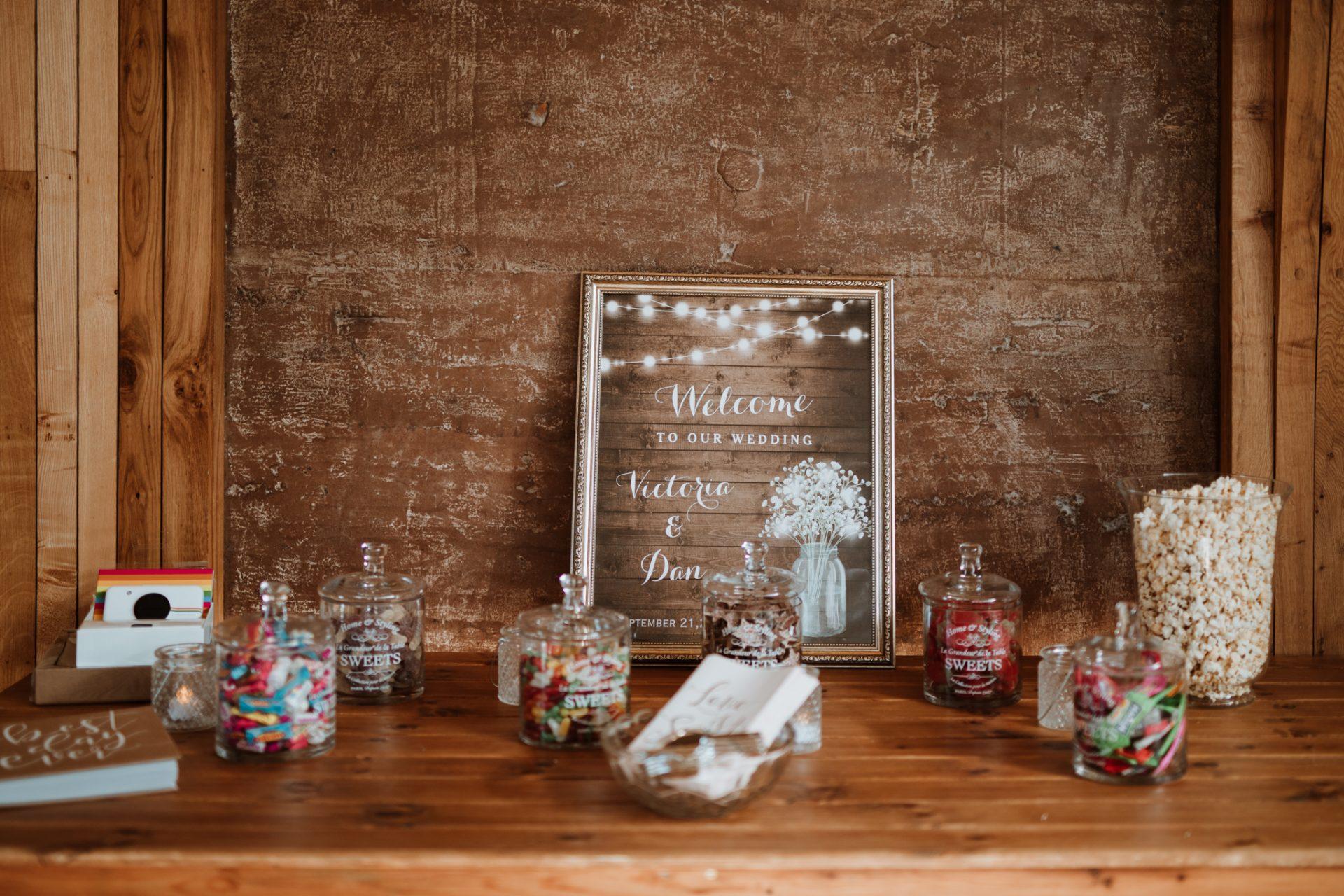 sweet table buffet