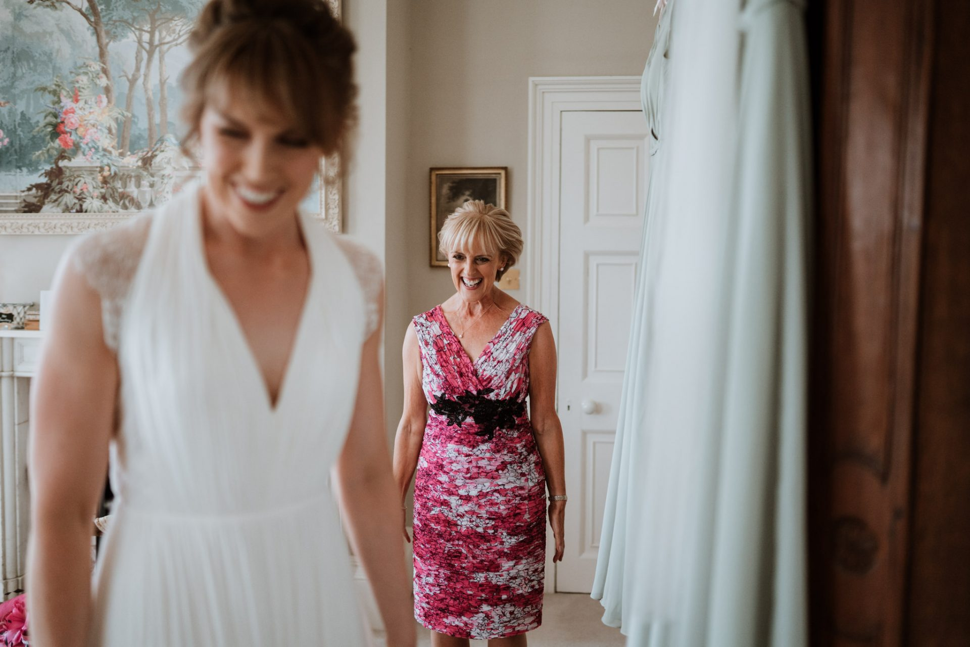 mother of the bride laughing
