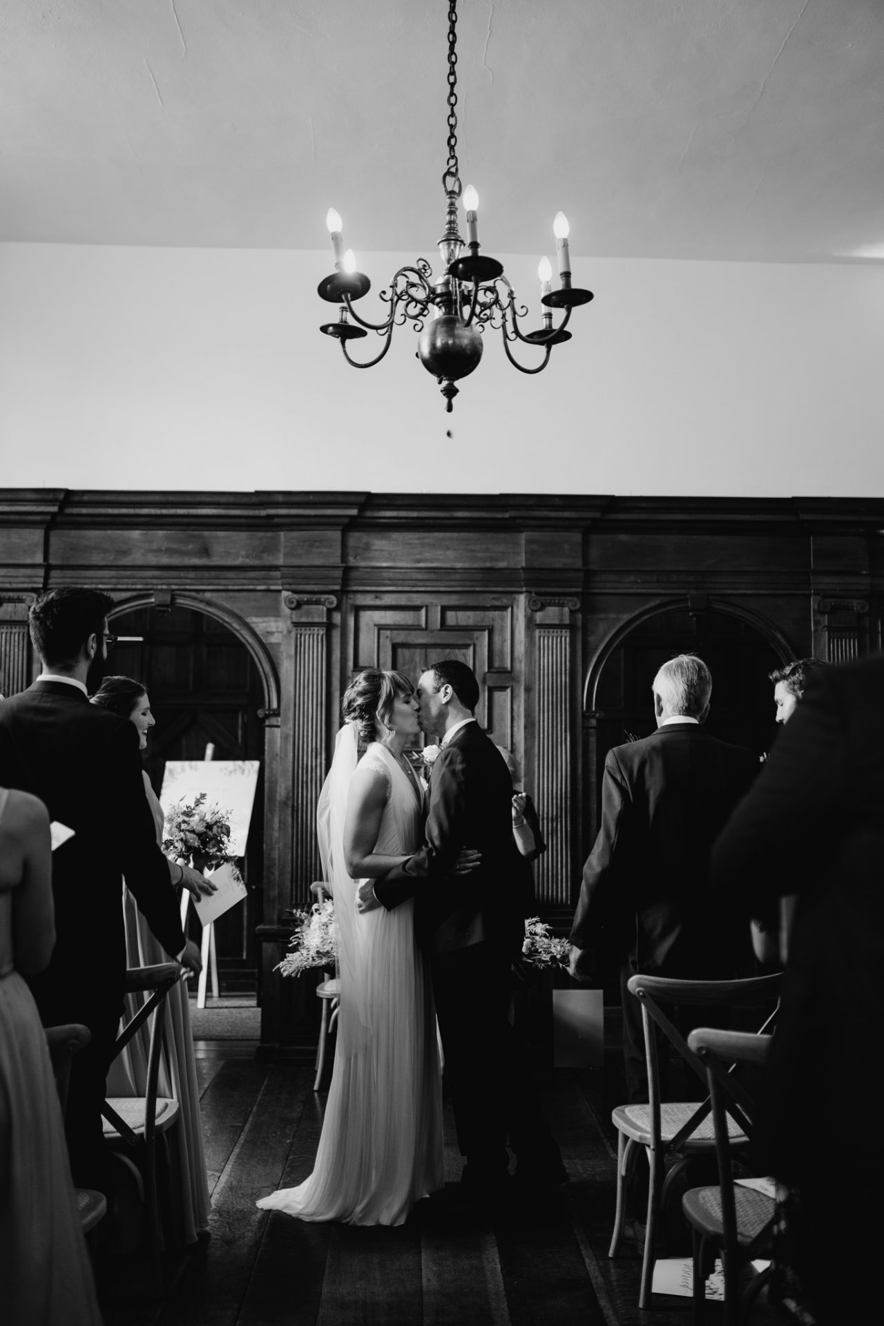 first kiss during the wedding ceremony
