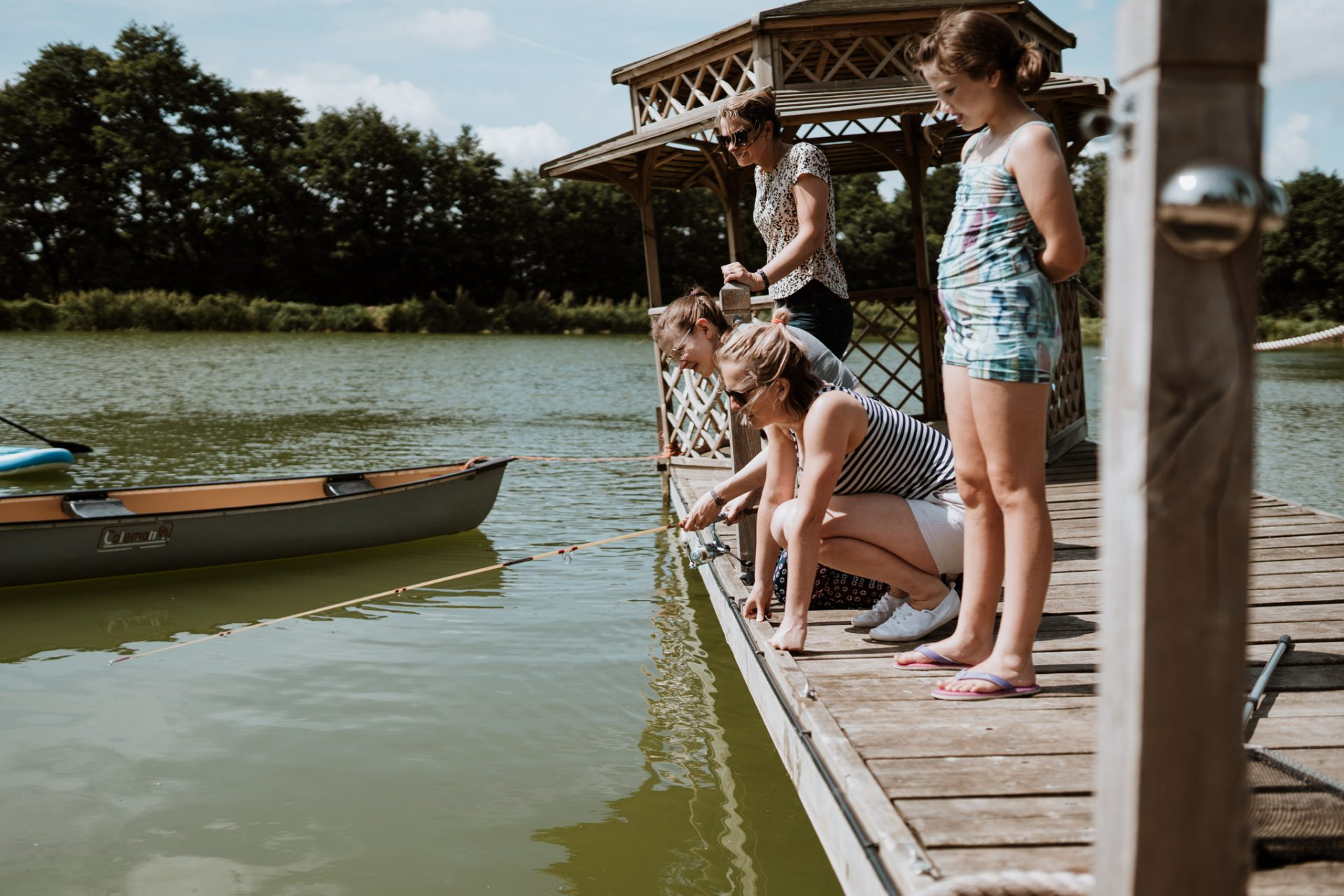 guests fishing at north cadbury court