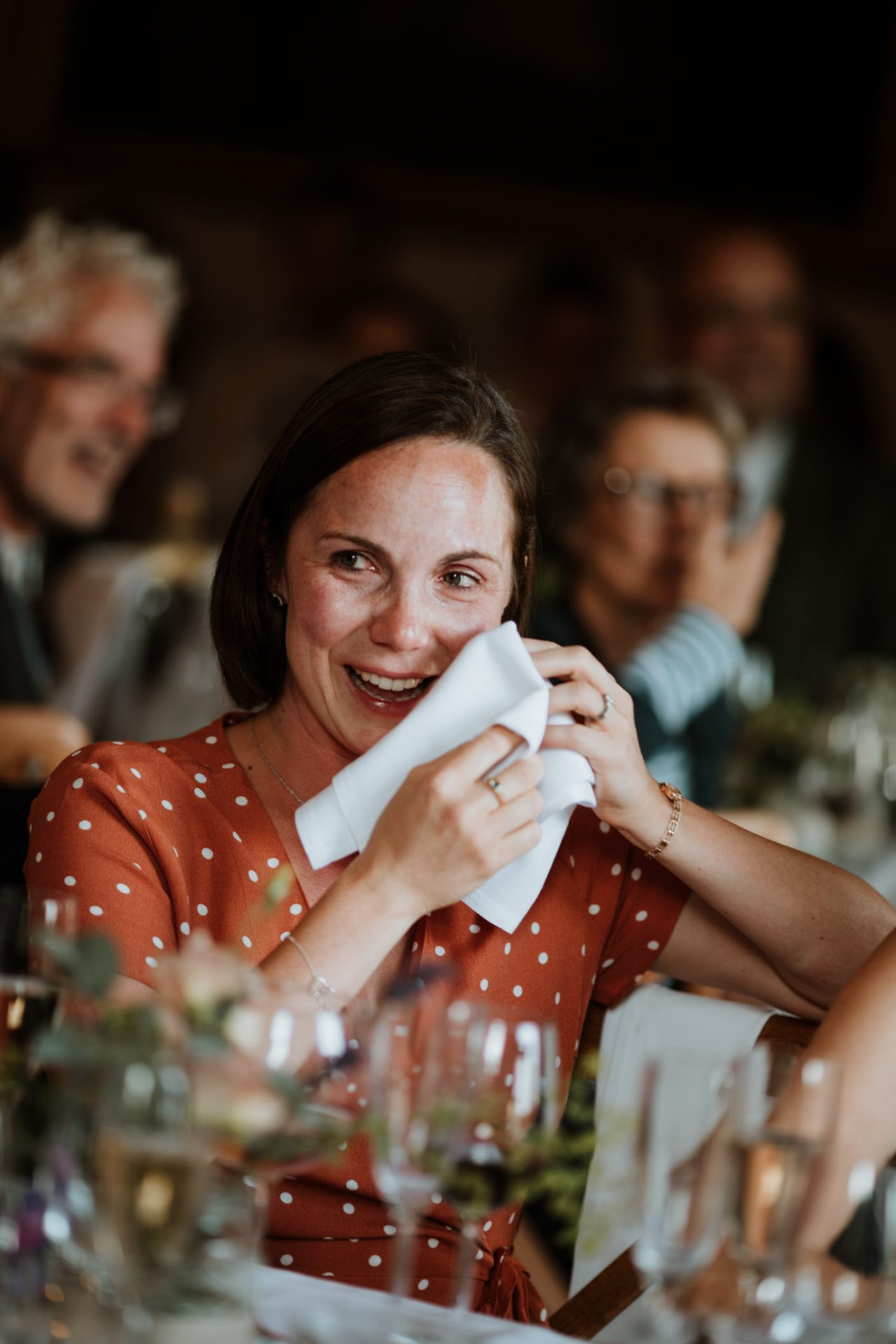 wedding breakfast guest crying speeches candid