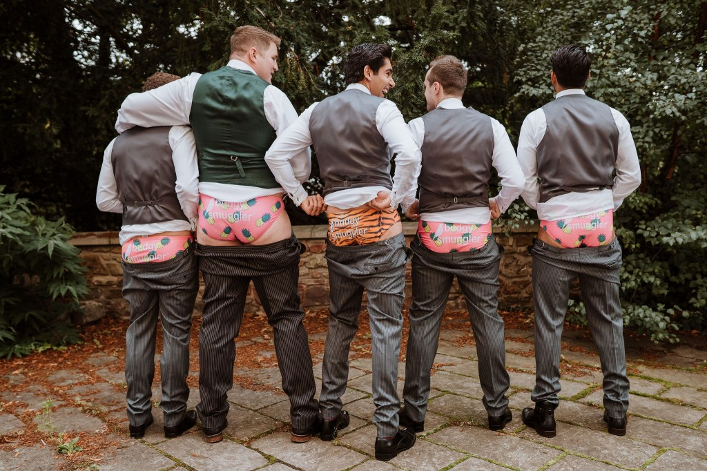 funny groomsmen photo novelty budgie smuggler pants