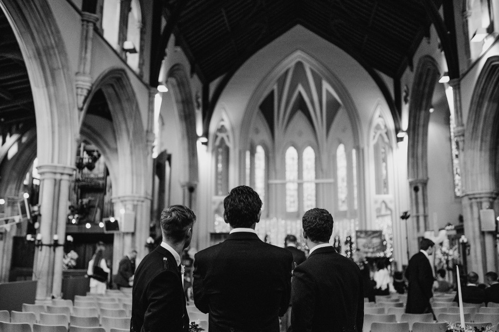 groomsmen in christ church