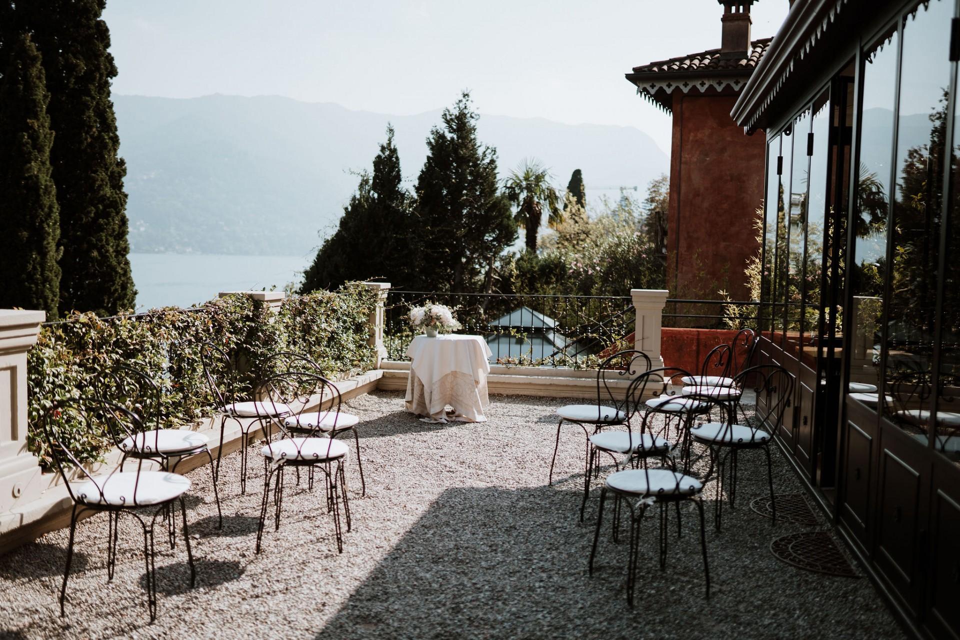 ceremony view from the relais villa vittoria