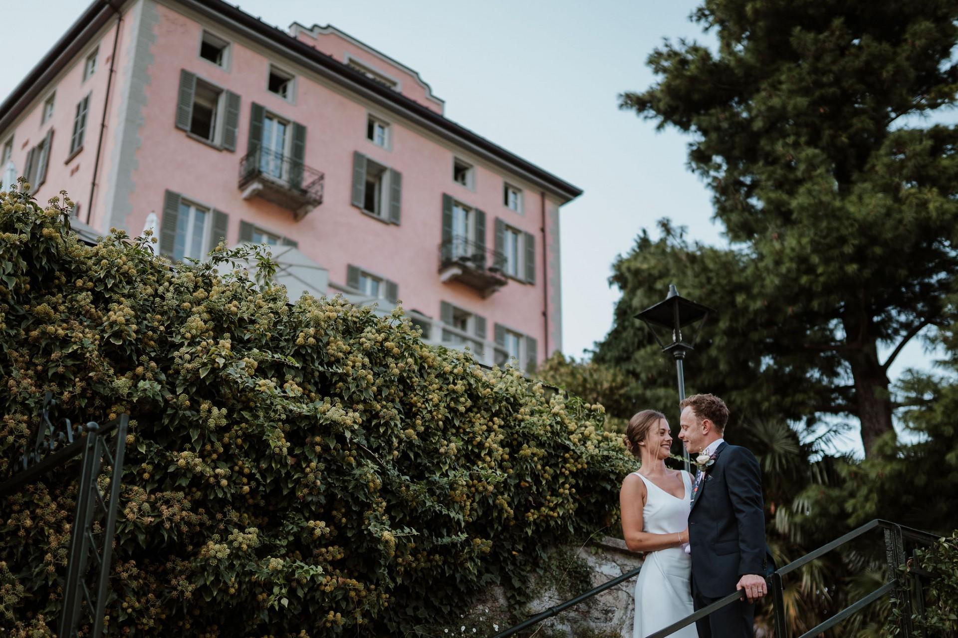 bride and groom lake como wedding photography