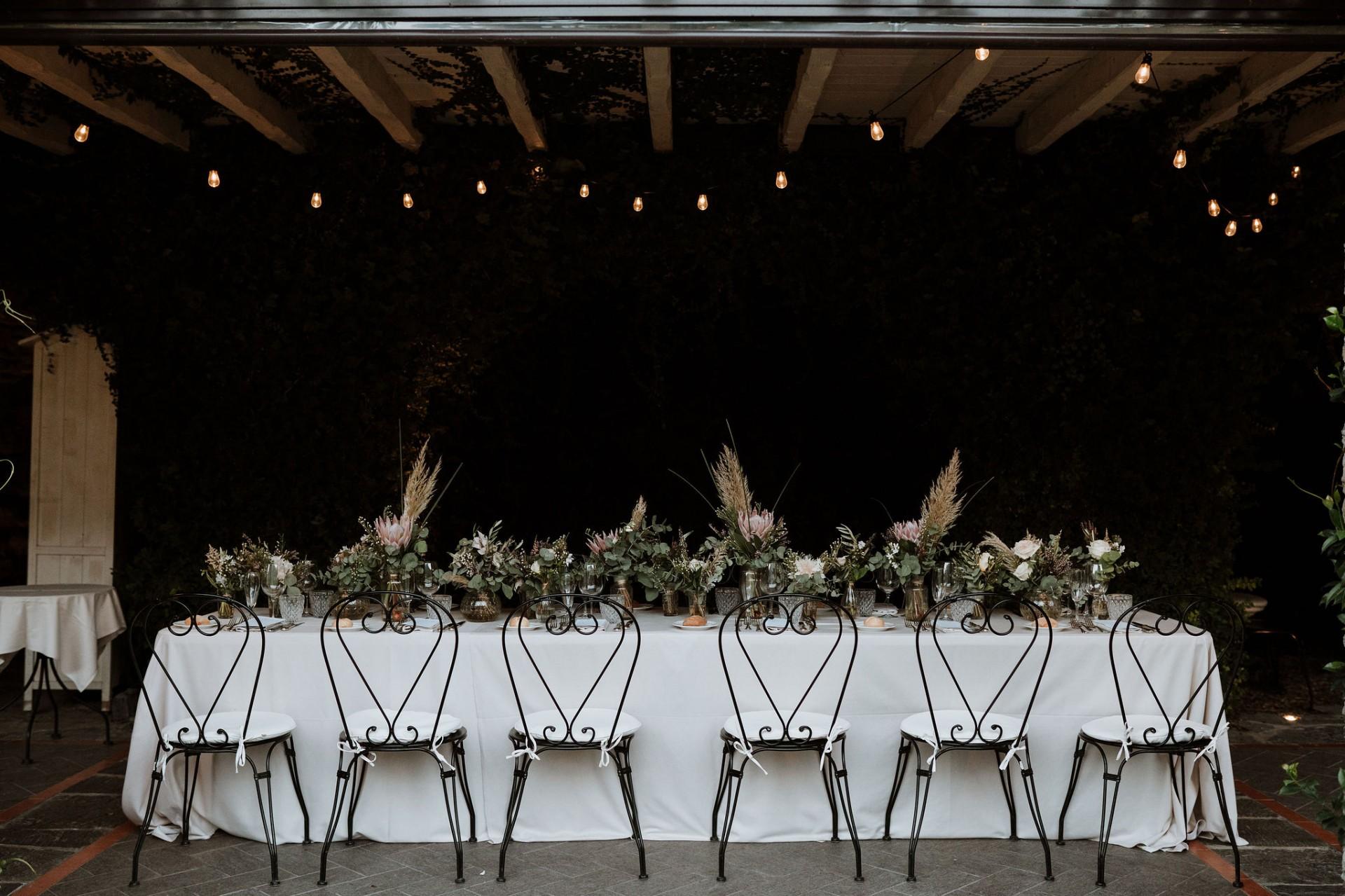 wedding breakfast table decoration