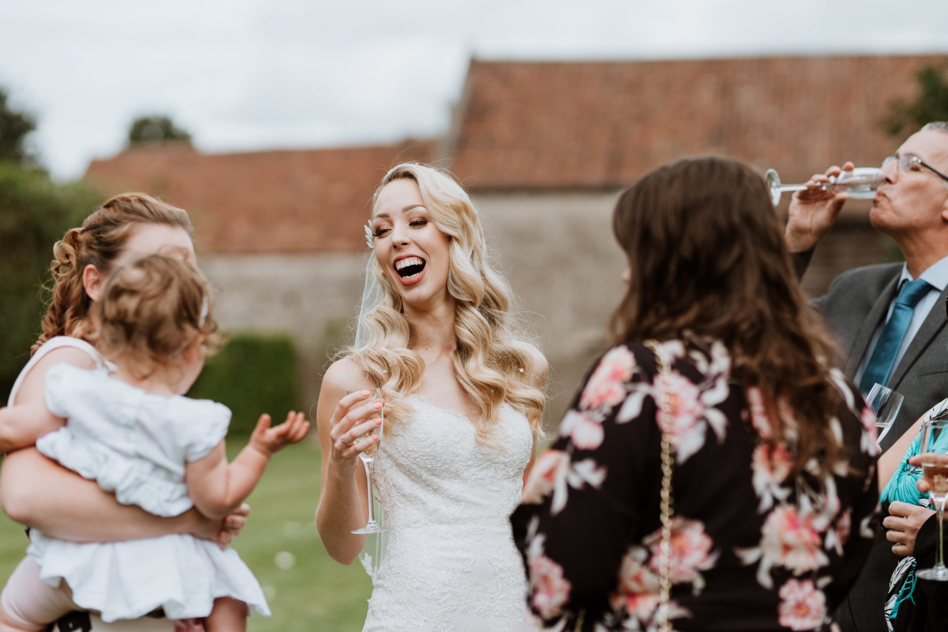 bride laughing reportage style wedding photography