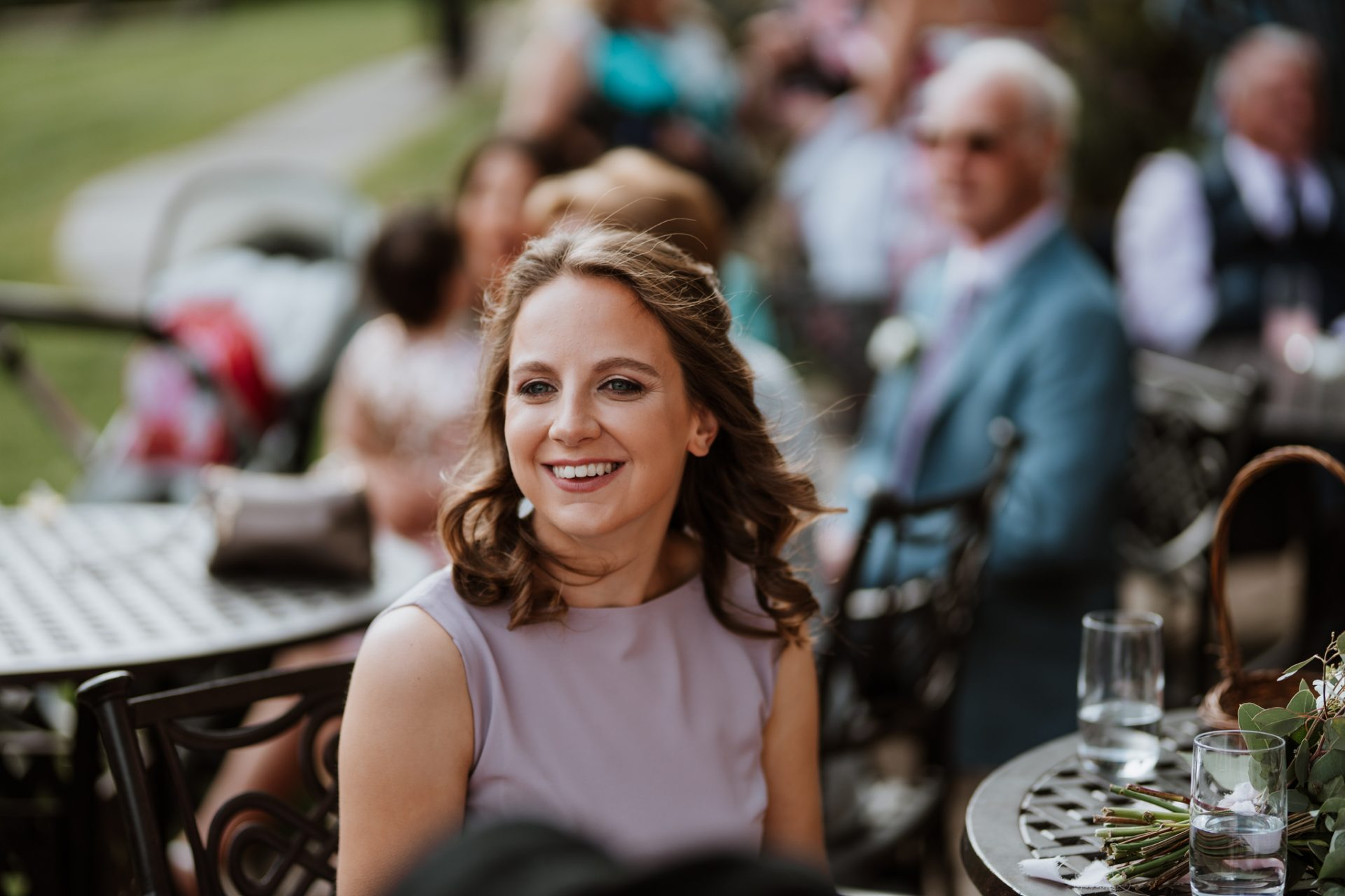 guest laughing documentary style wedding photography Bristol