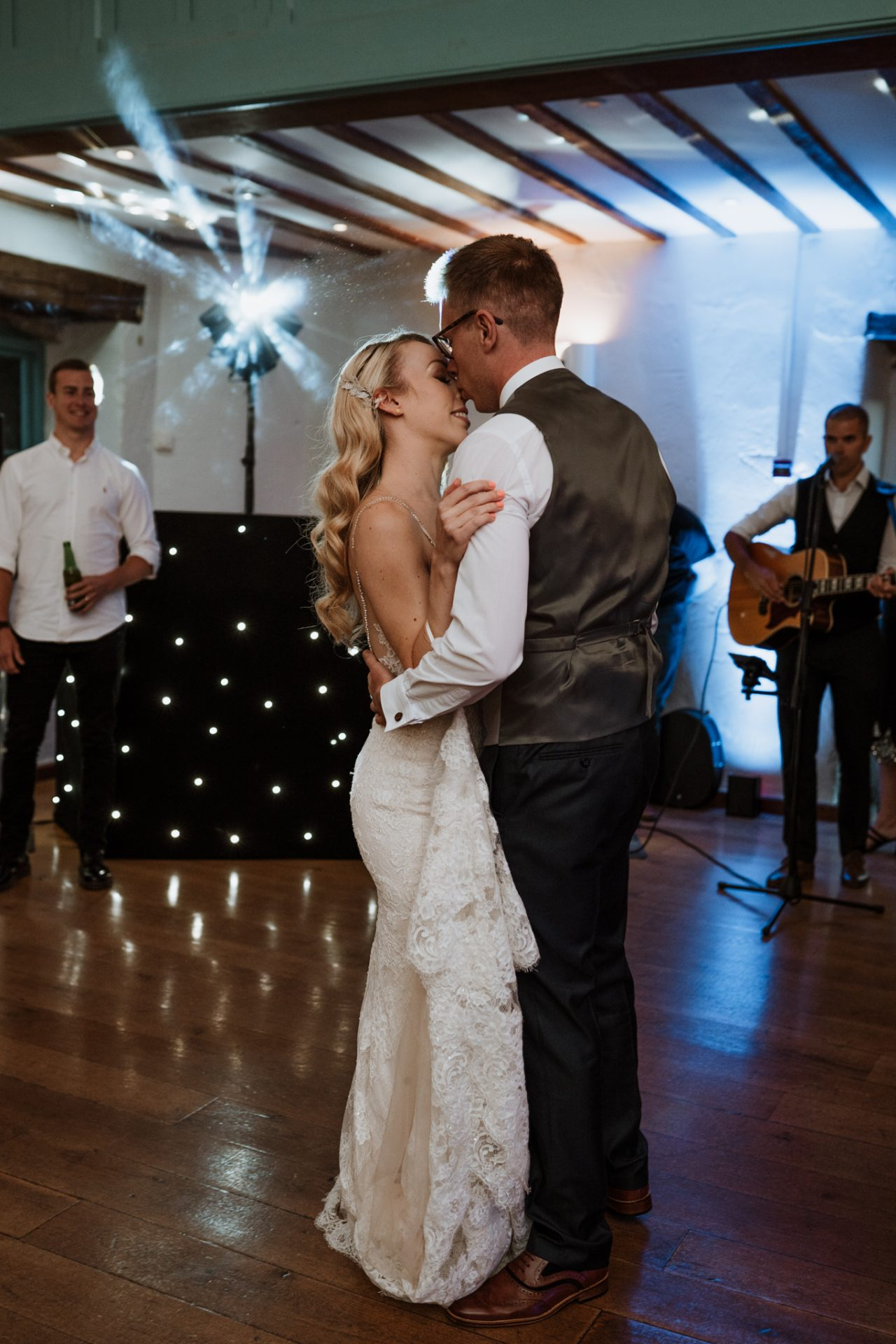 bride and groom first dance priston mill