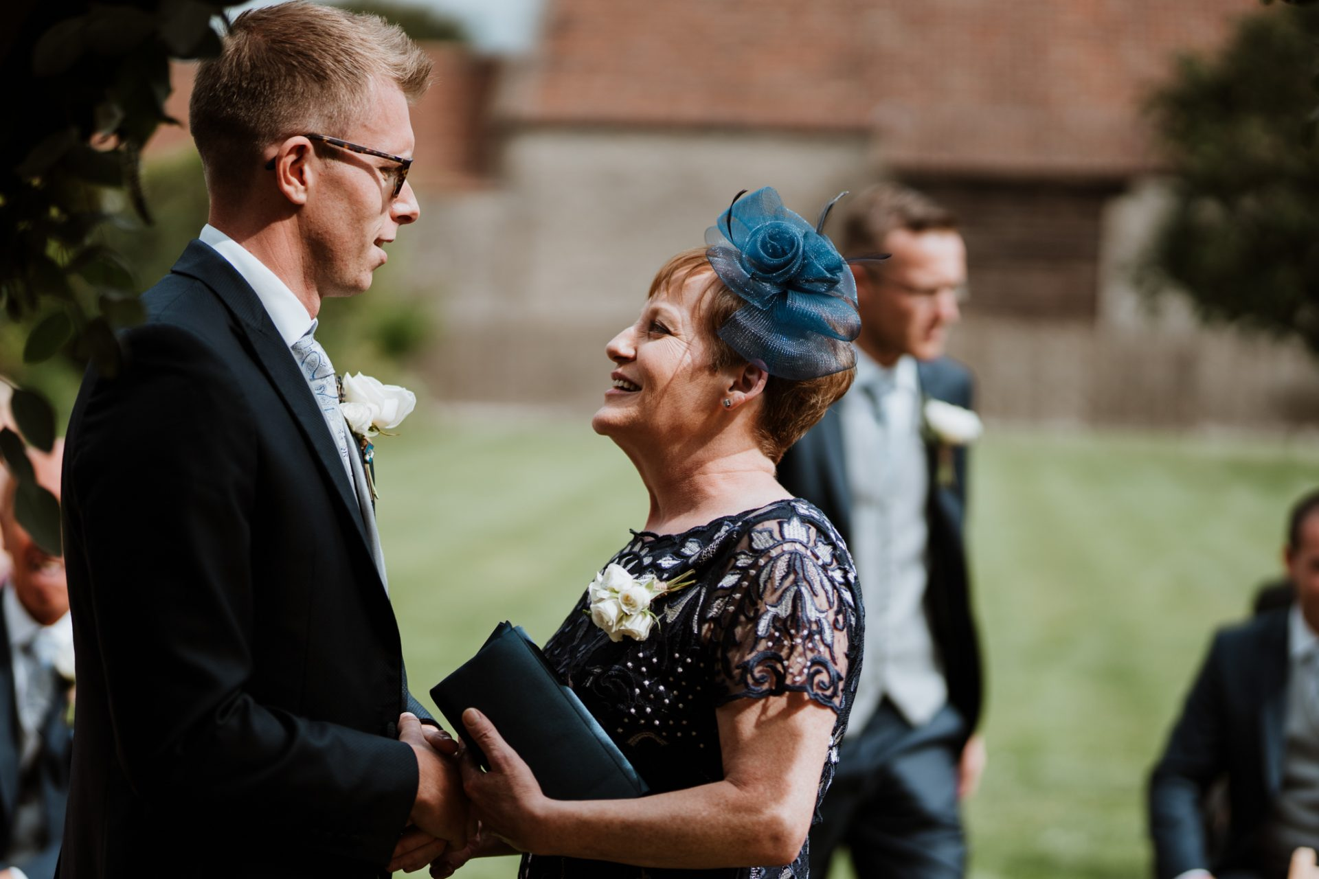 mother of the bride and groom before the ceremony