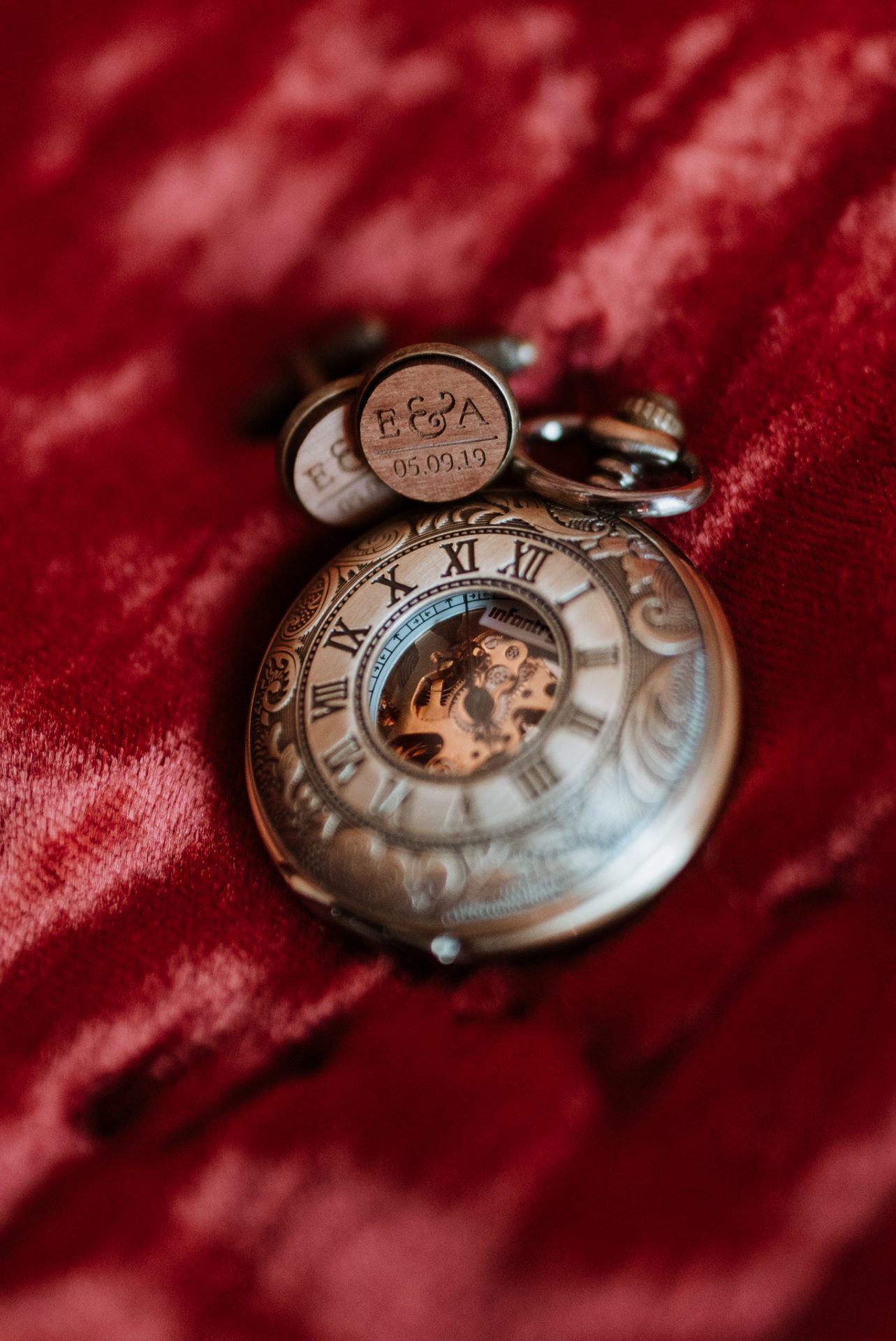 custom personalised cufflinks and pocket watch