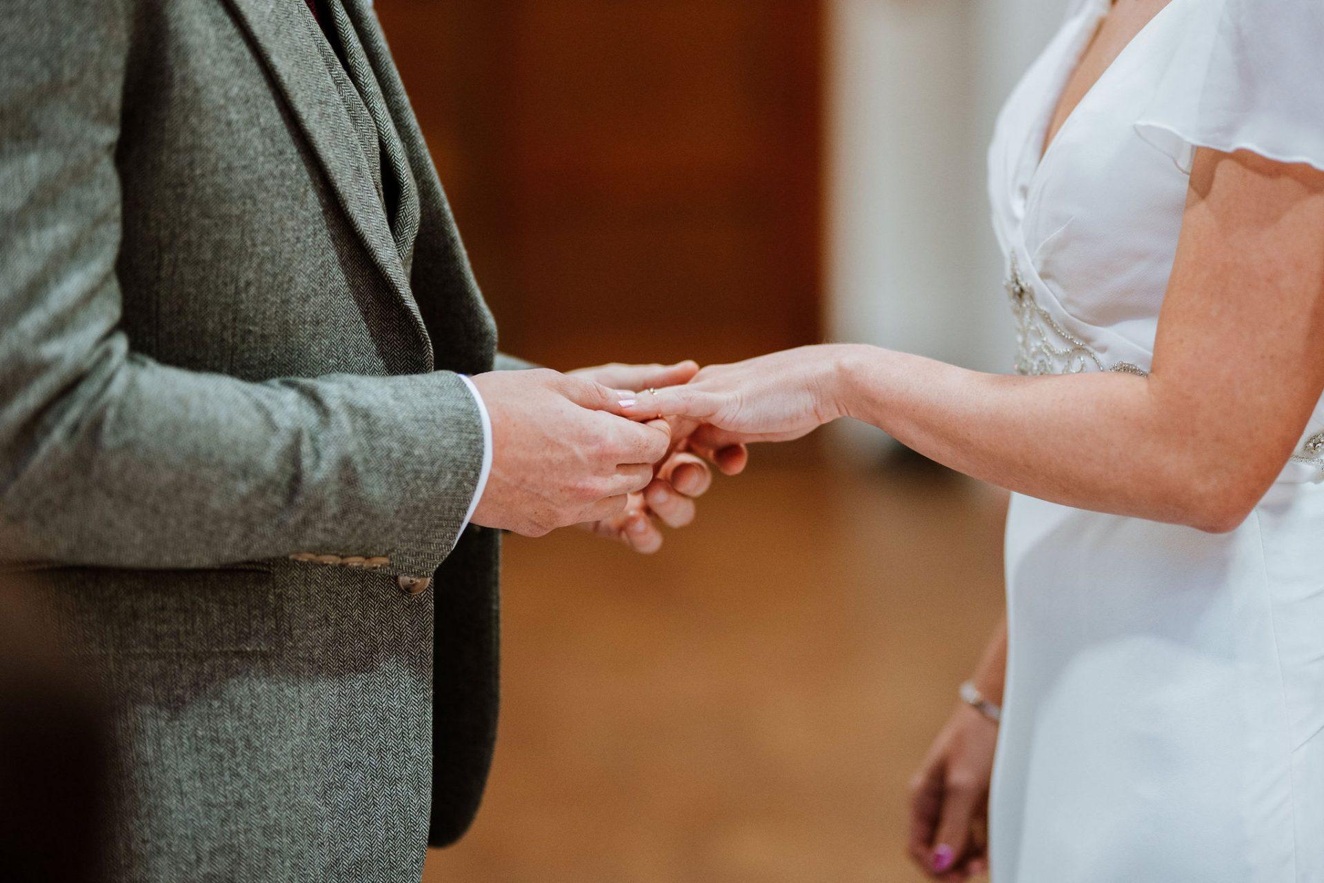 exchanging rings wedding cermony arnos vale