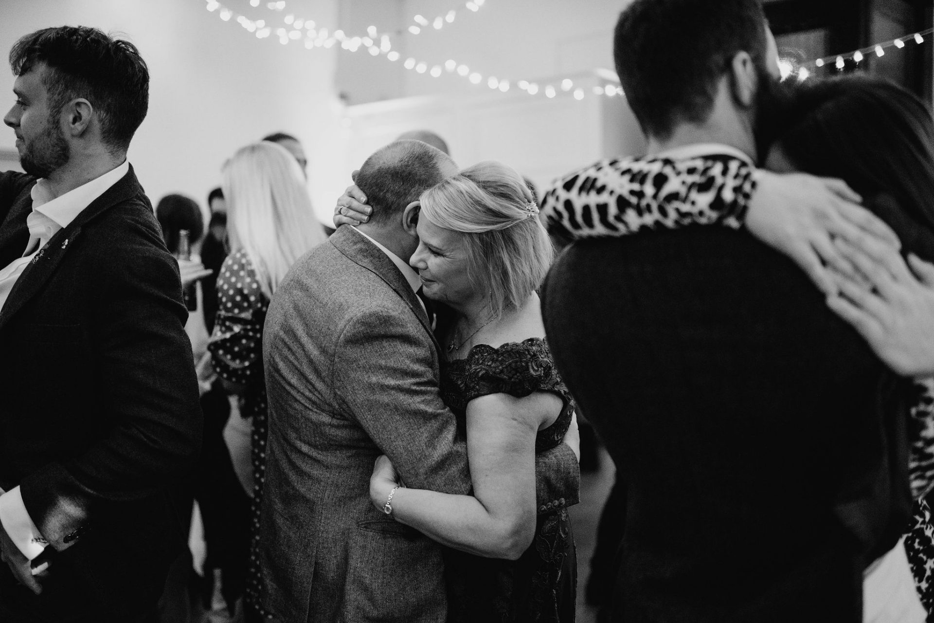 mother and father of the bride slow dancing