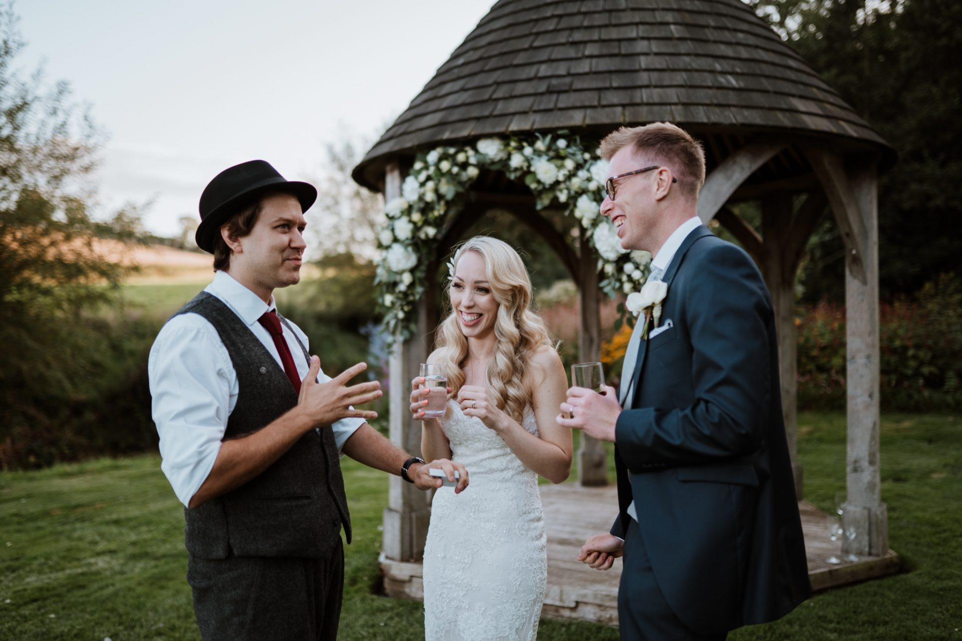 darren campbell magician showing bride and groom trick