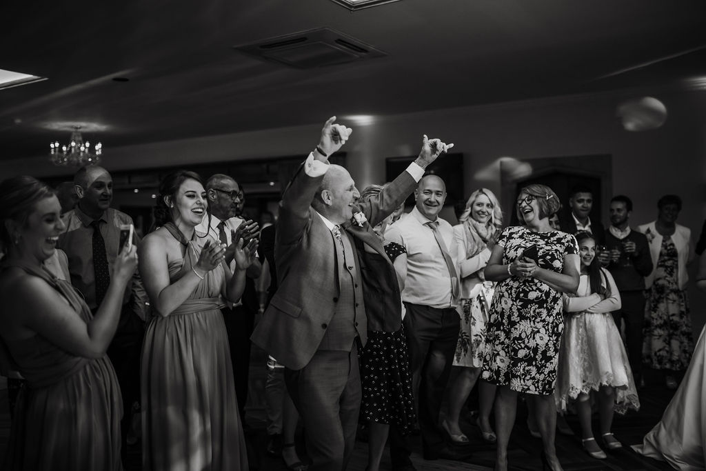father celebrates great dancing