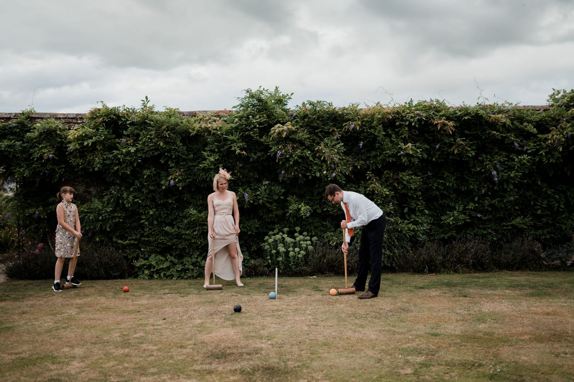 guests play croquet in the grounds of north cadbury court