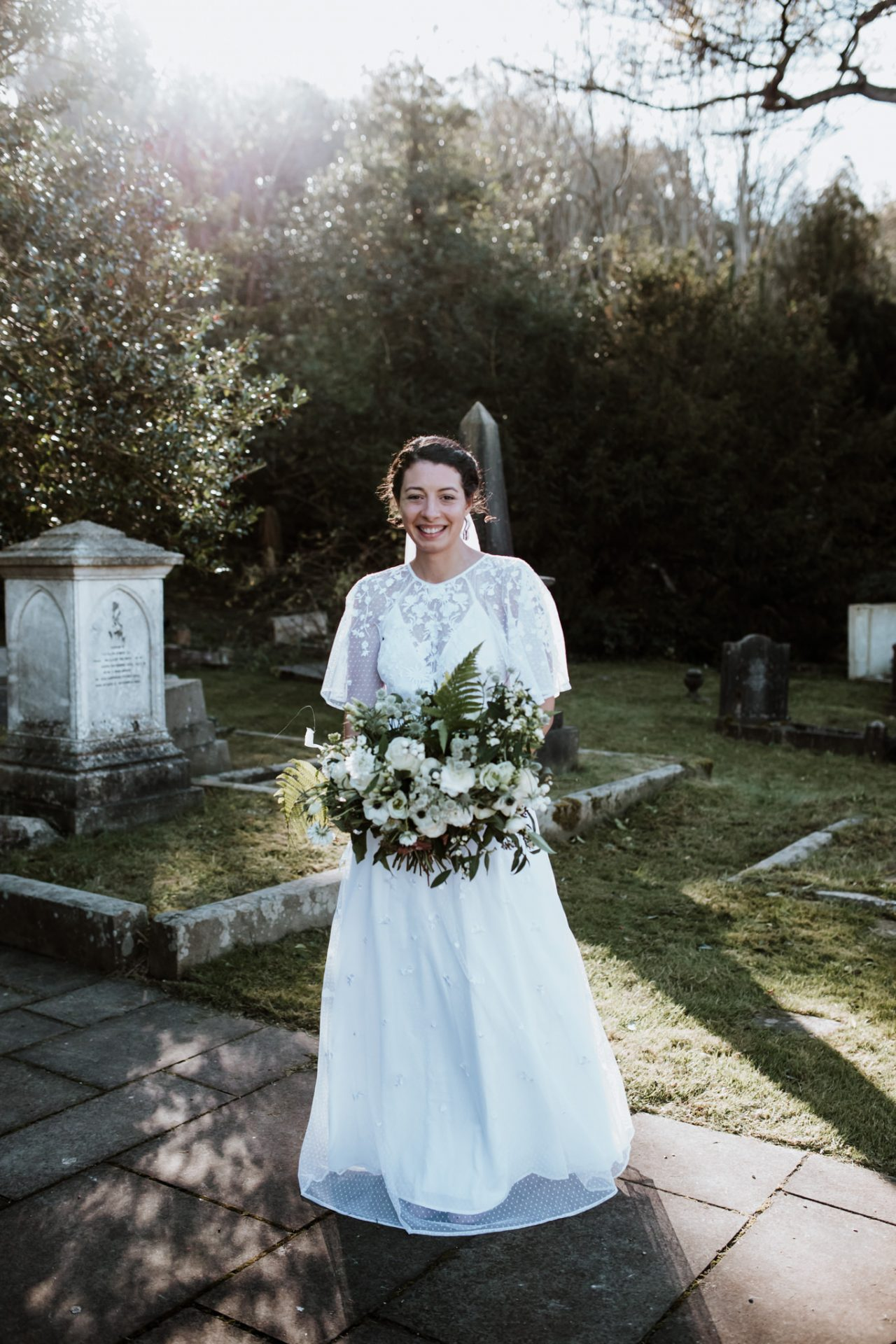 bridal portrait arnos vale before the ceremony