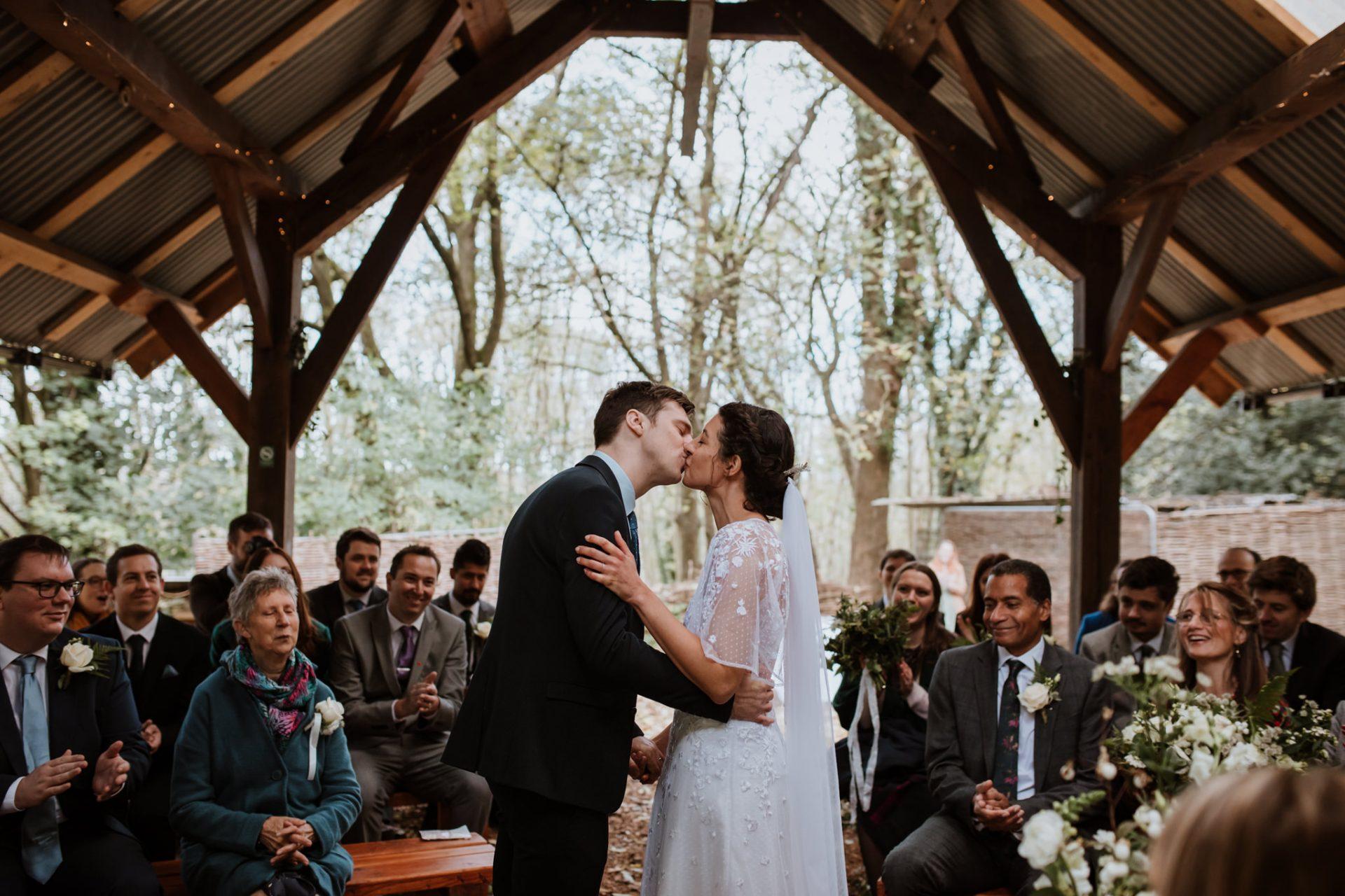 first kiss wedding ceremony underwood centre arnos vale