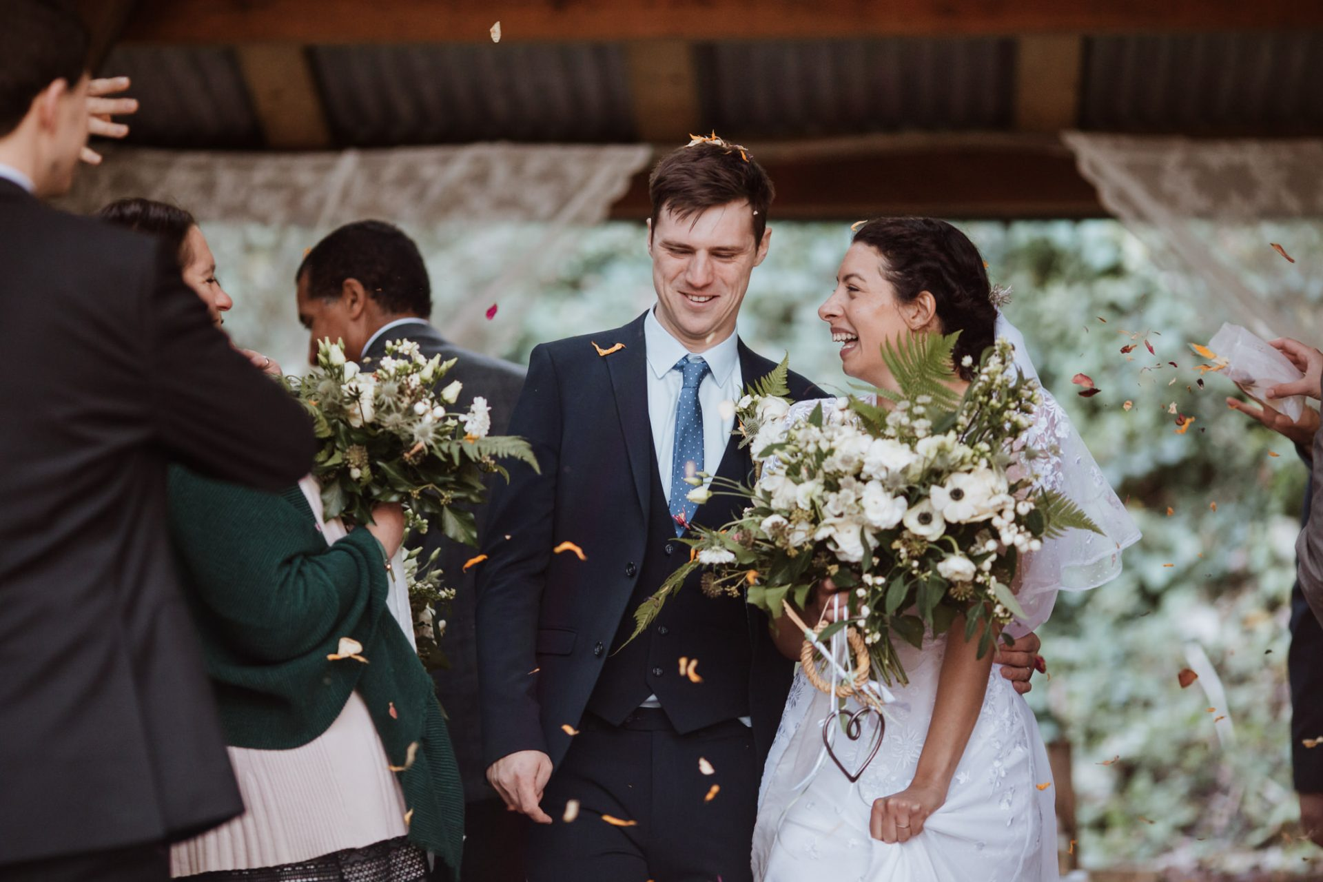 confetti exit wedding ceremony underwood centre arnos vale