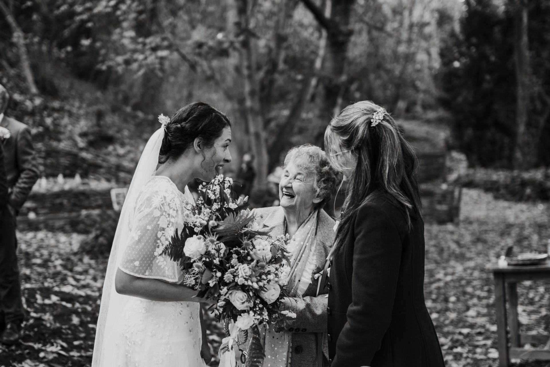 bride mother and grandmother 3 generations