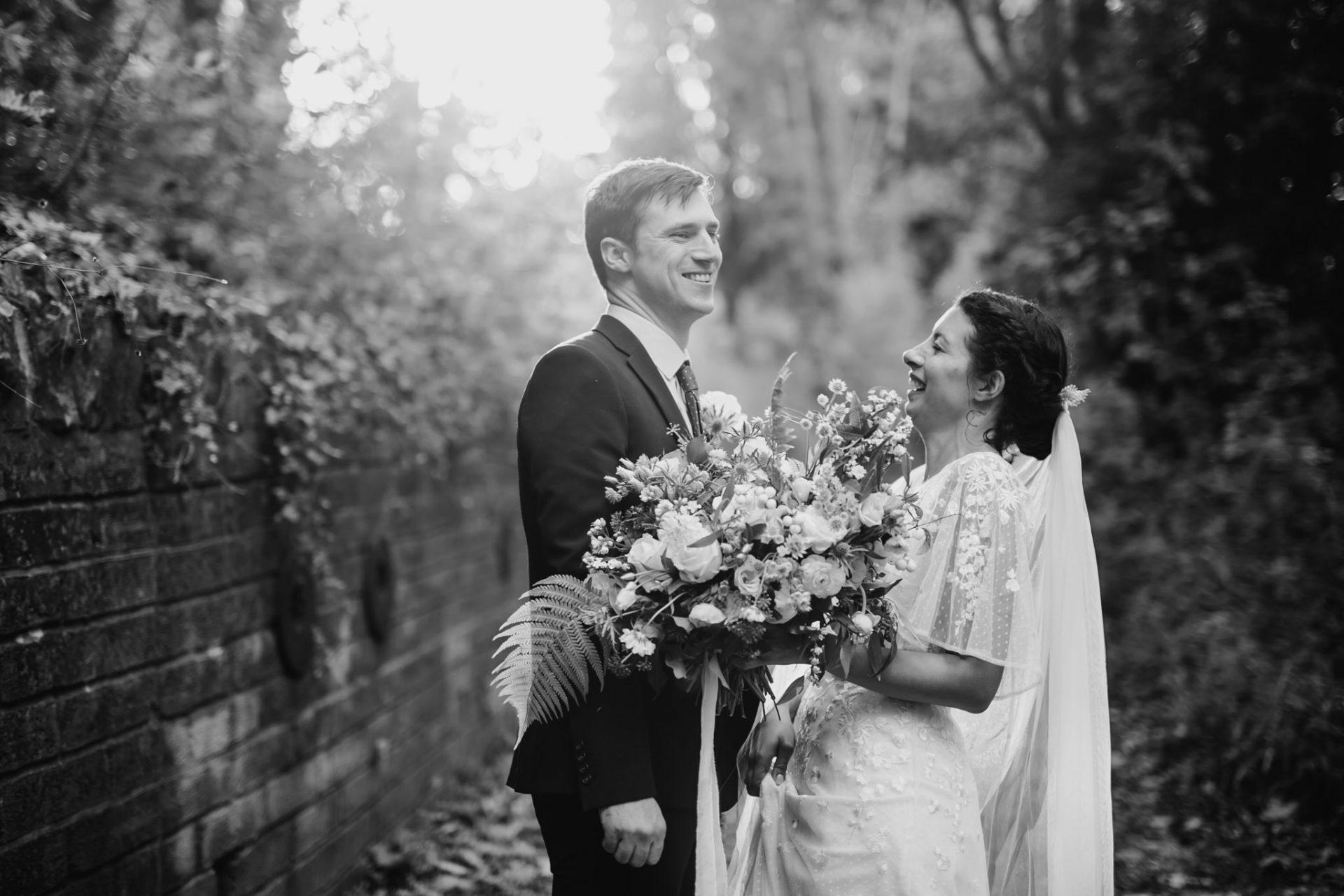 bride and groom arnos vale wedding
