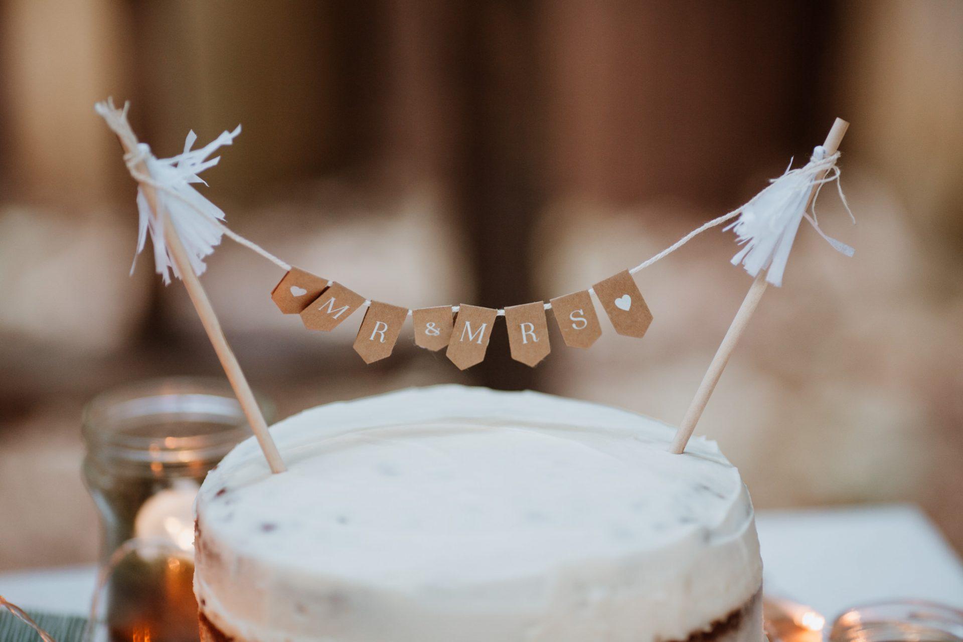 rustic wedding cake topper mr & mrs