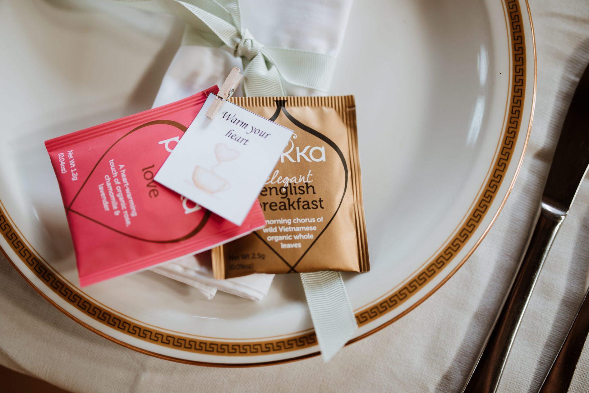 pukka tea wedding favours