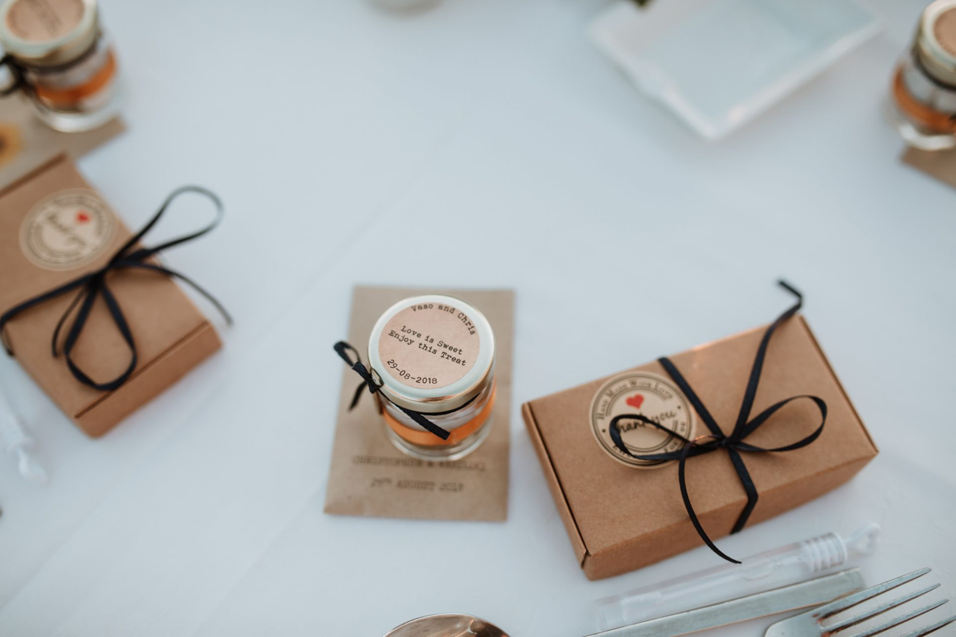 honey personalised wedding favours