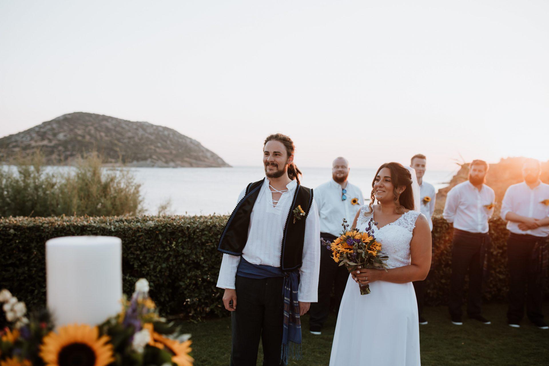 clifftop wedding ceremony greece