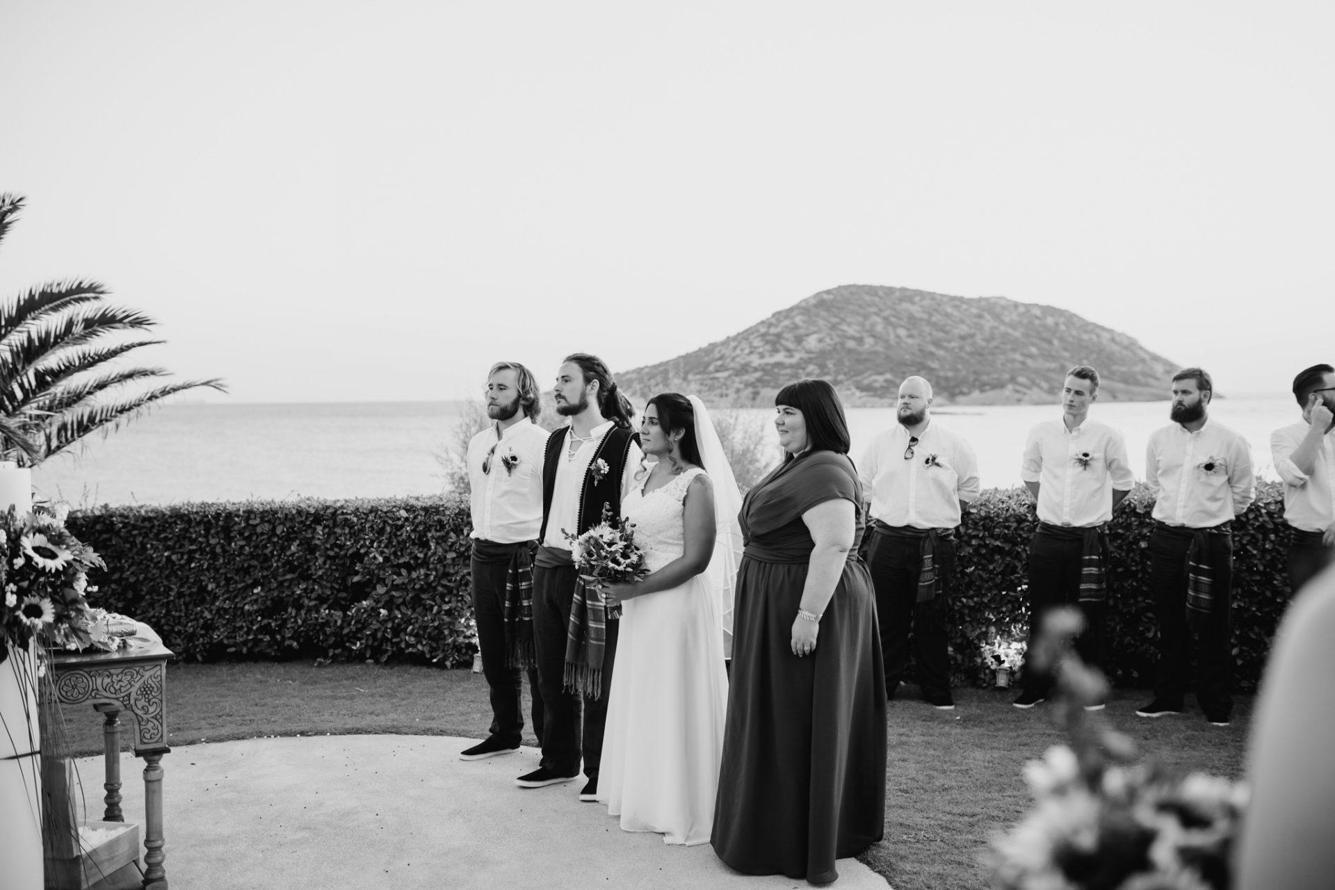 wedding ceremony sea view greece