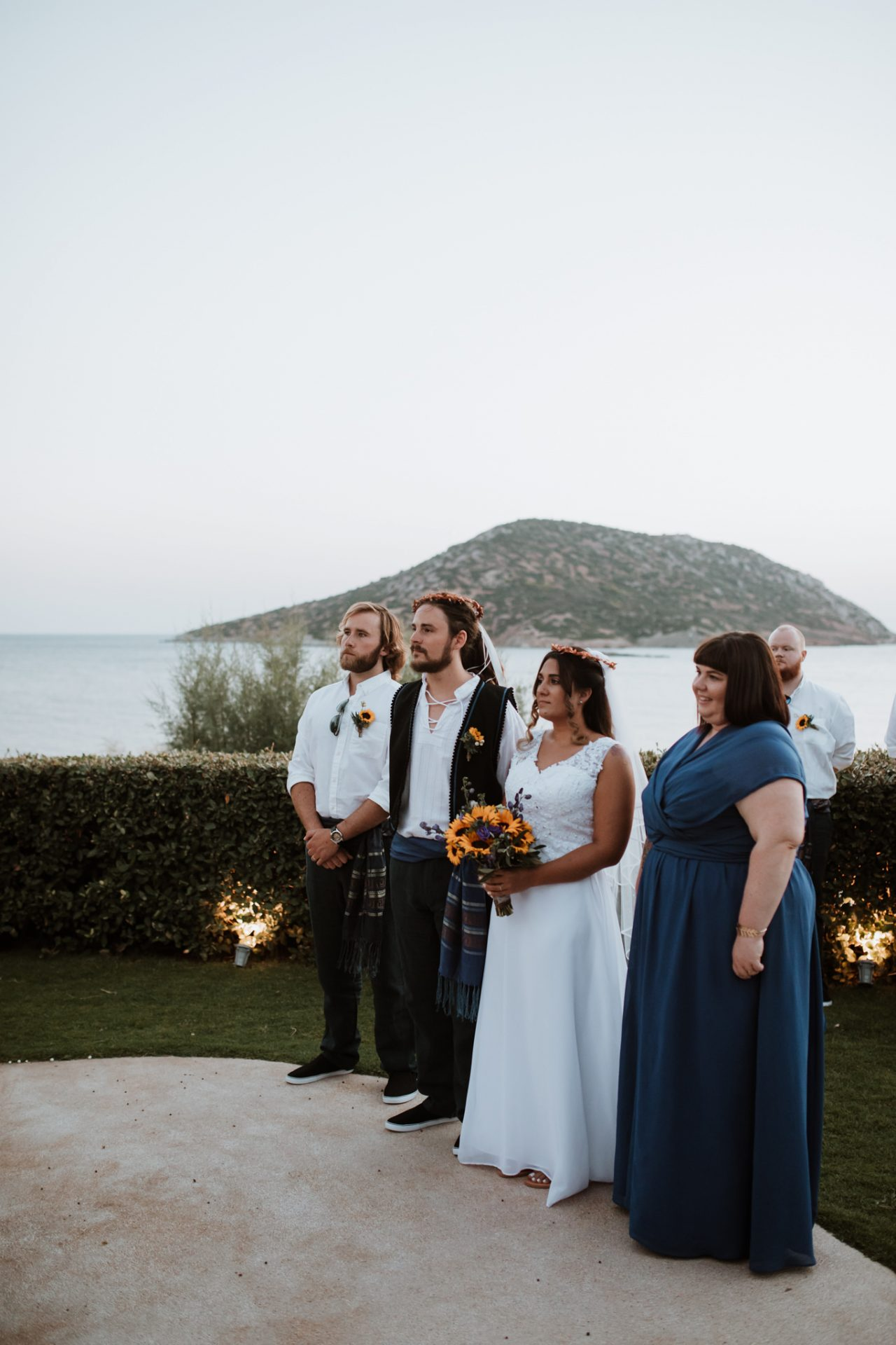 destination wedding ceremony greece