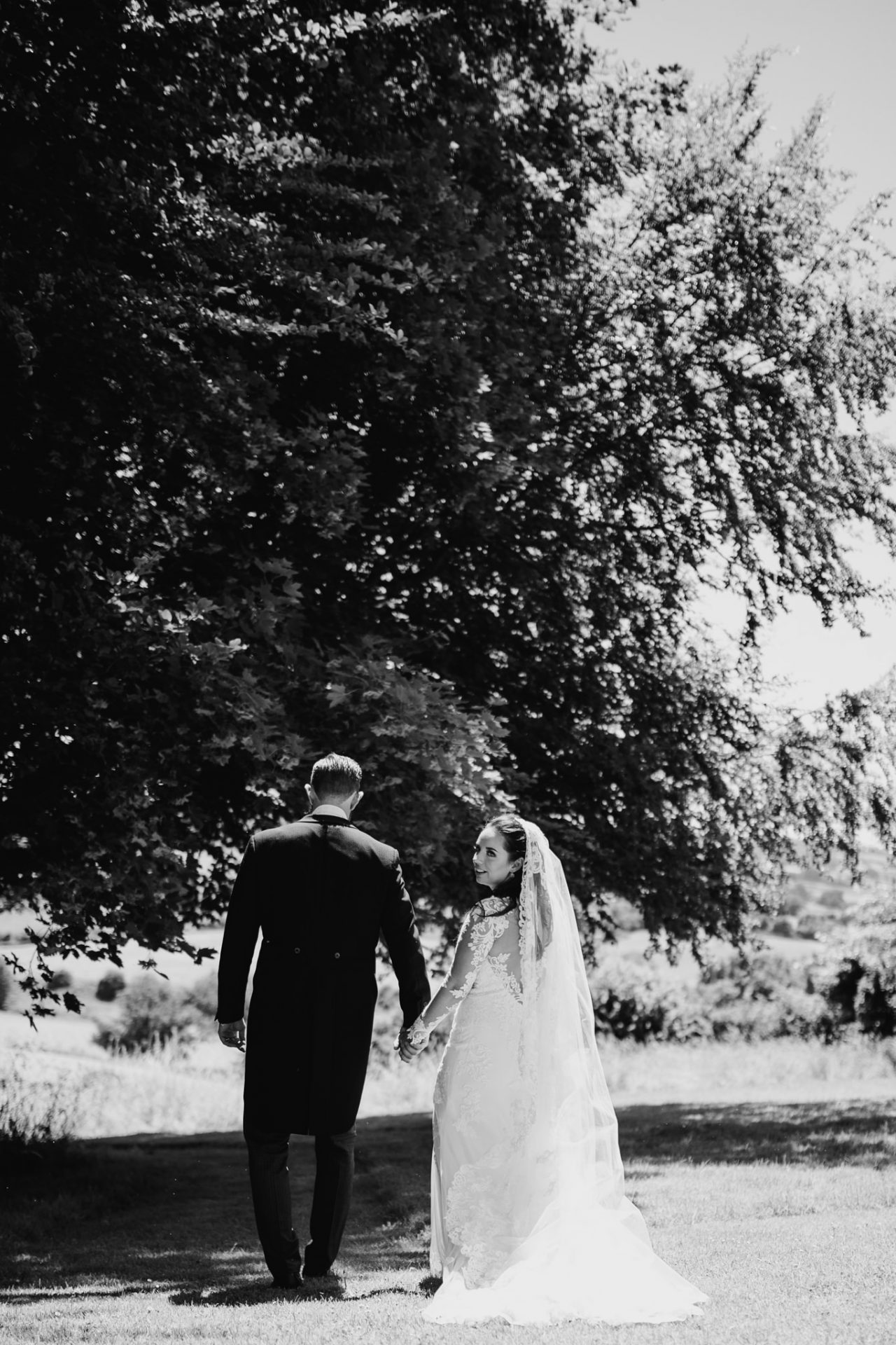 bride groom bristol wedding photographer back garden belluton