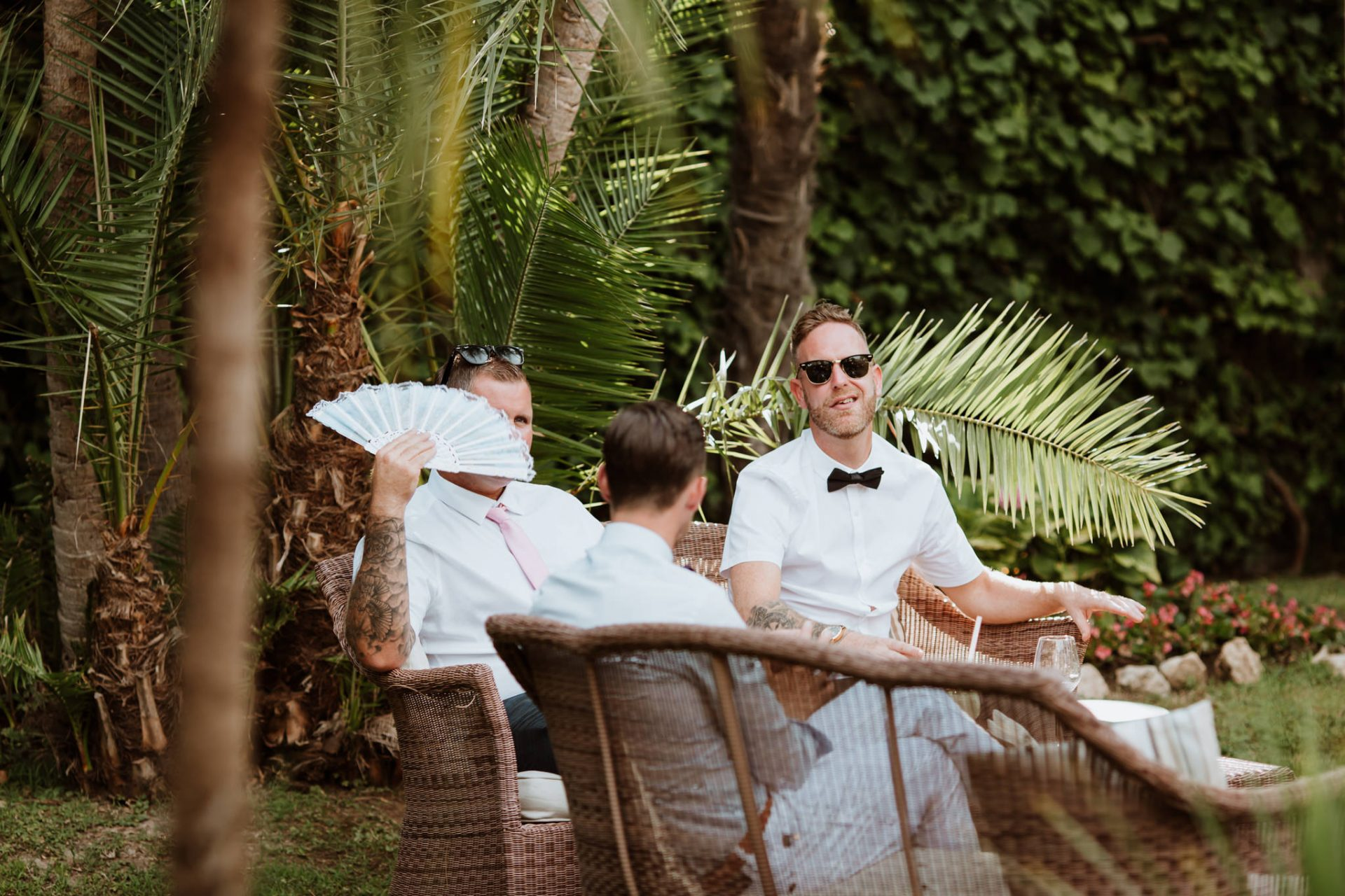guests relaxing candid photo hotel mediterraneo sorrento