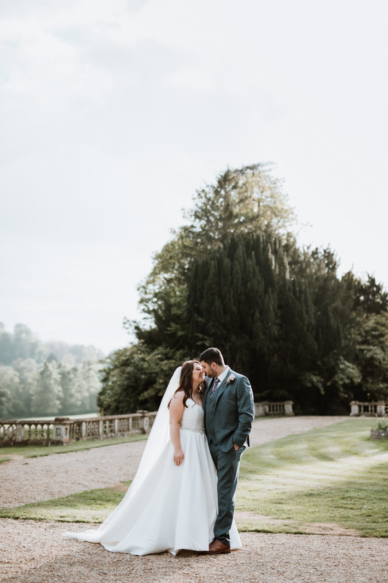 bride and groom wedding photography orchardleigh house