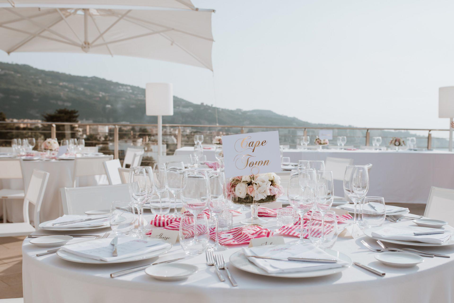 wedding breakfast decorations al fresco sea views hotel mediterraneo sorrento