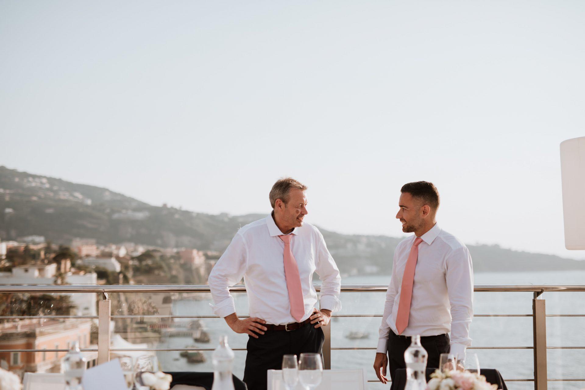 al fresco wedding breakfast hotel mediterraneo sorrento
