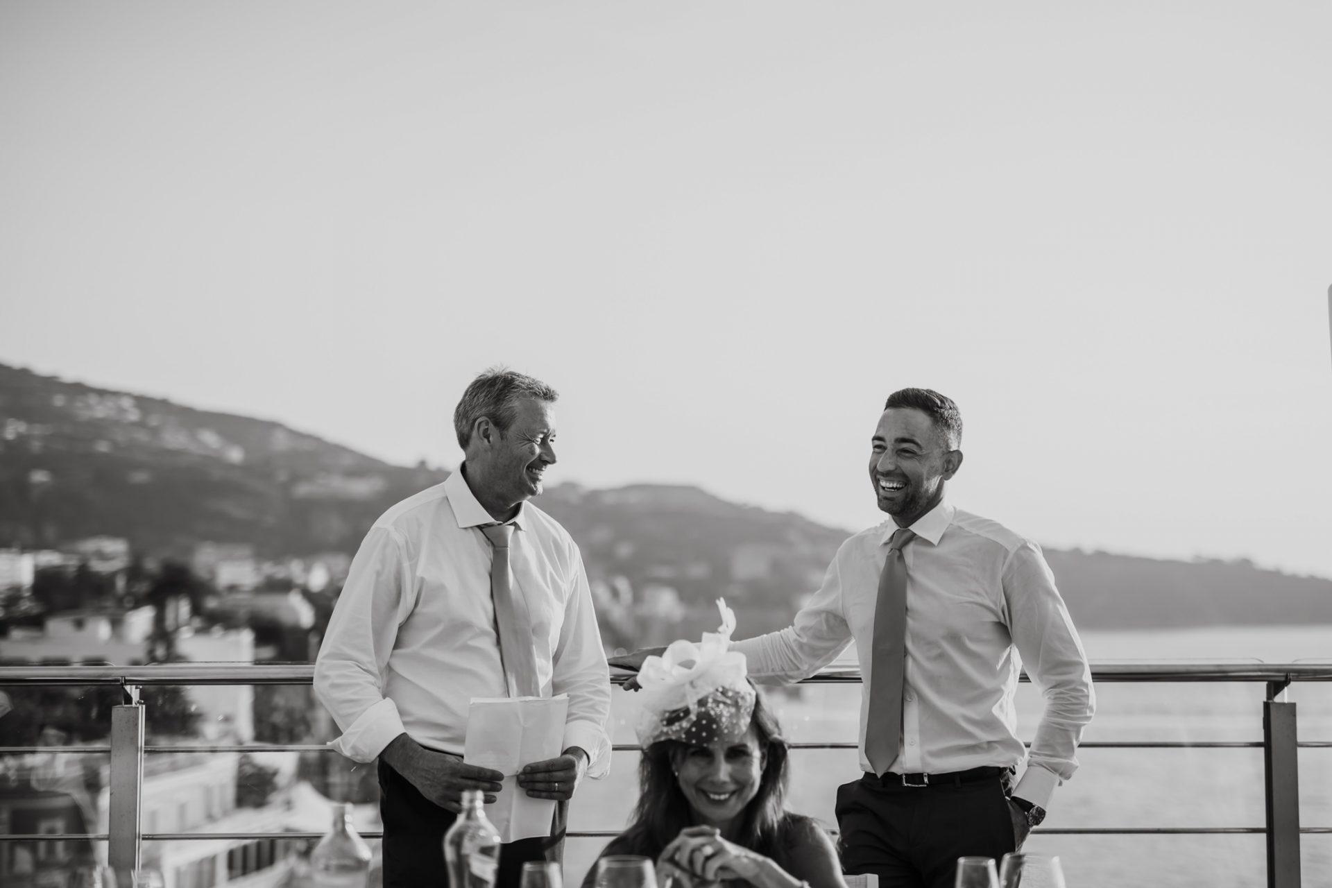 al fresco wedding breakfast outside hotel mediterraneo sorrento