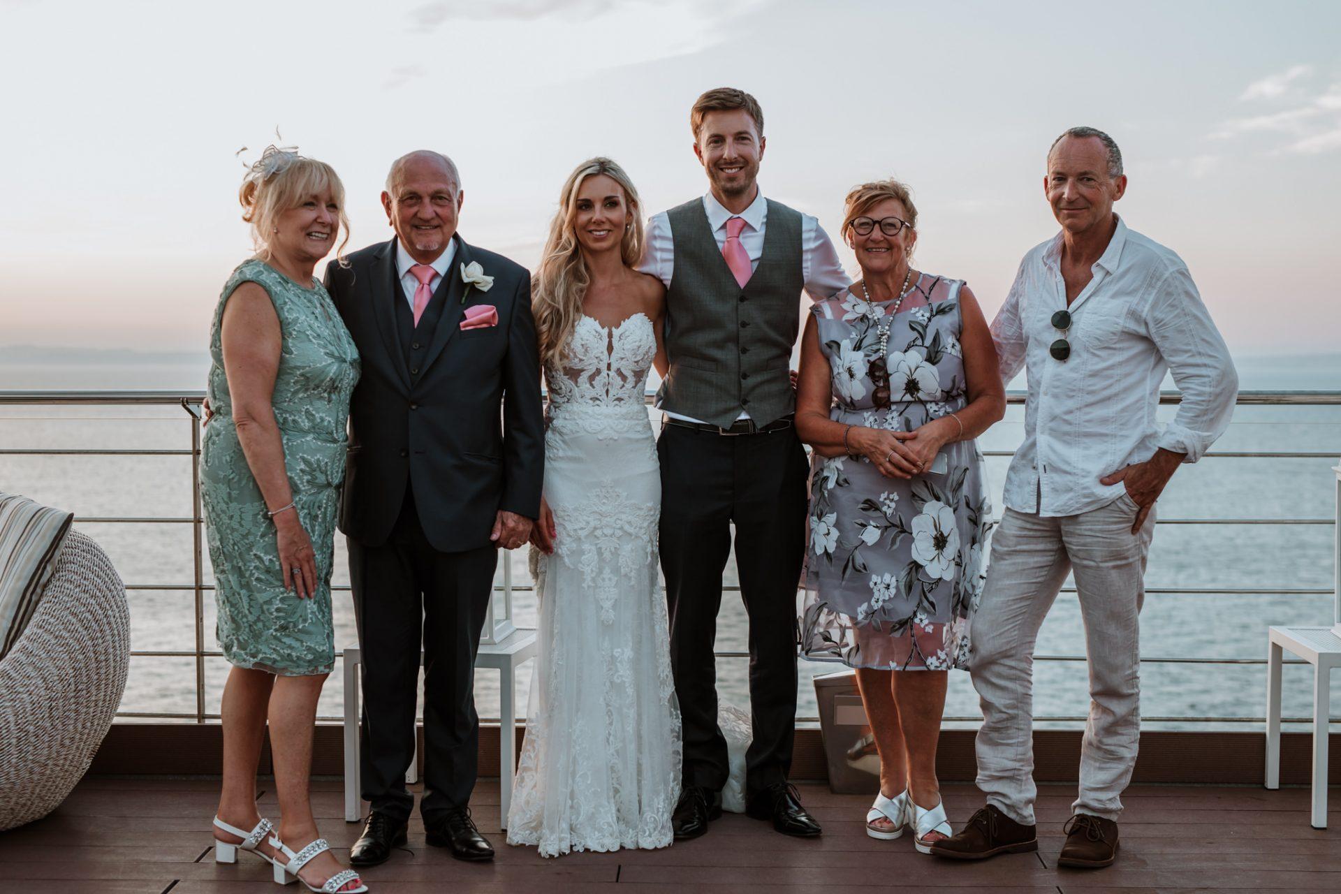 group photo at sunset hotel mediterraneo sorrento