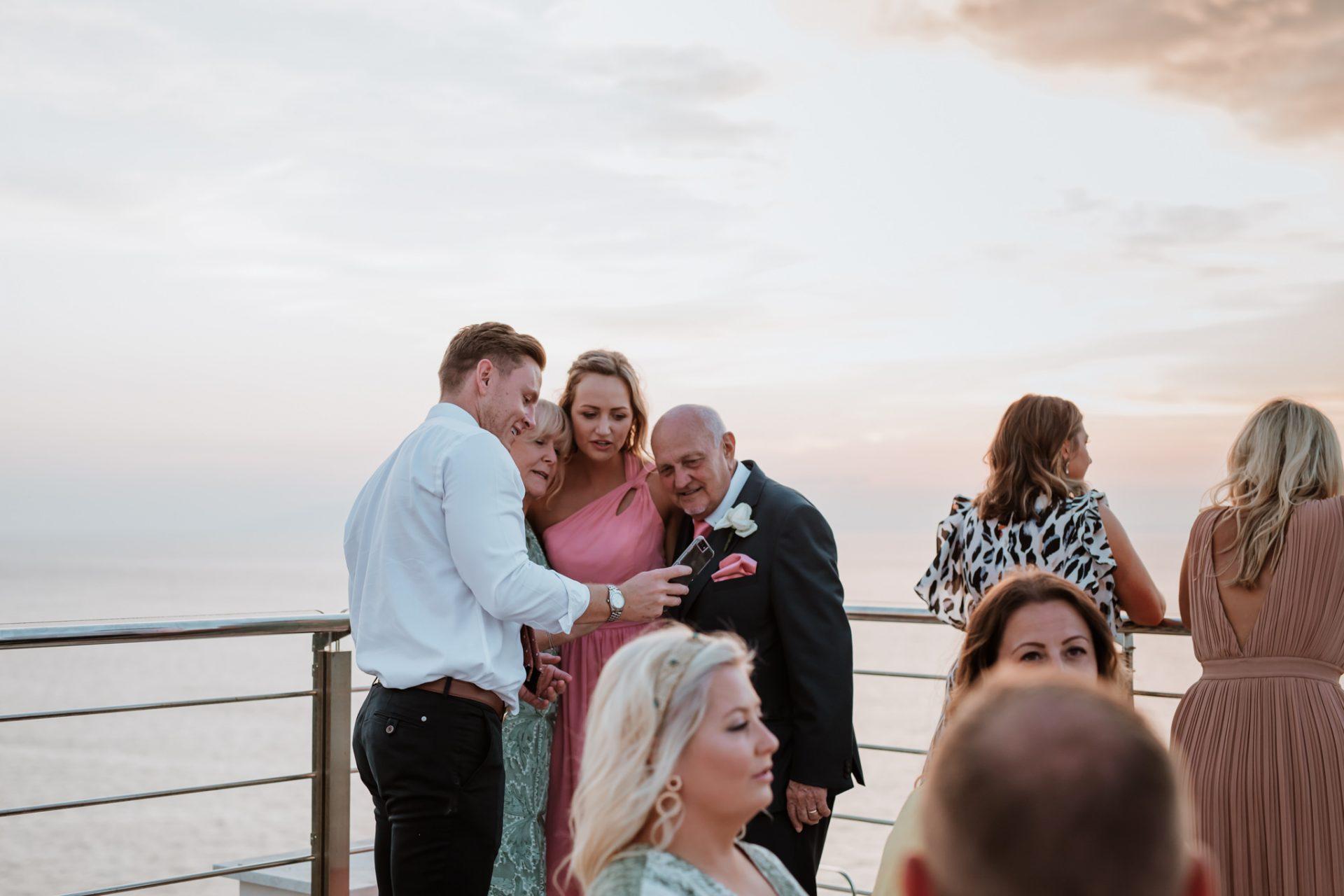 wedding guests candid photography hotel mediterraneo sorrento
