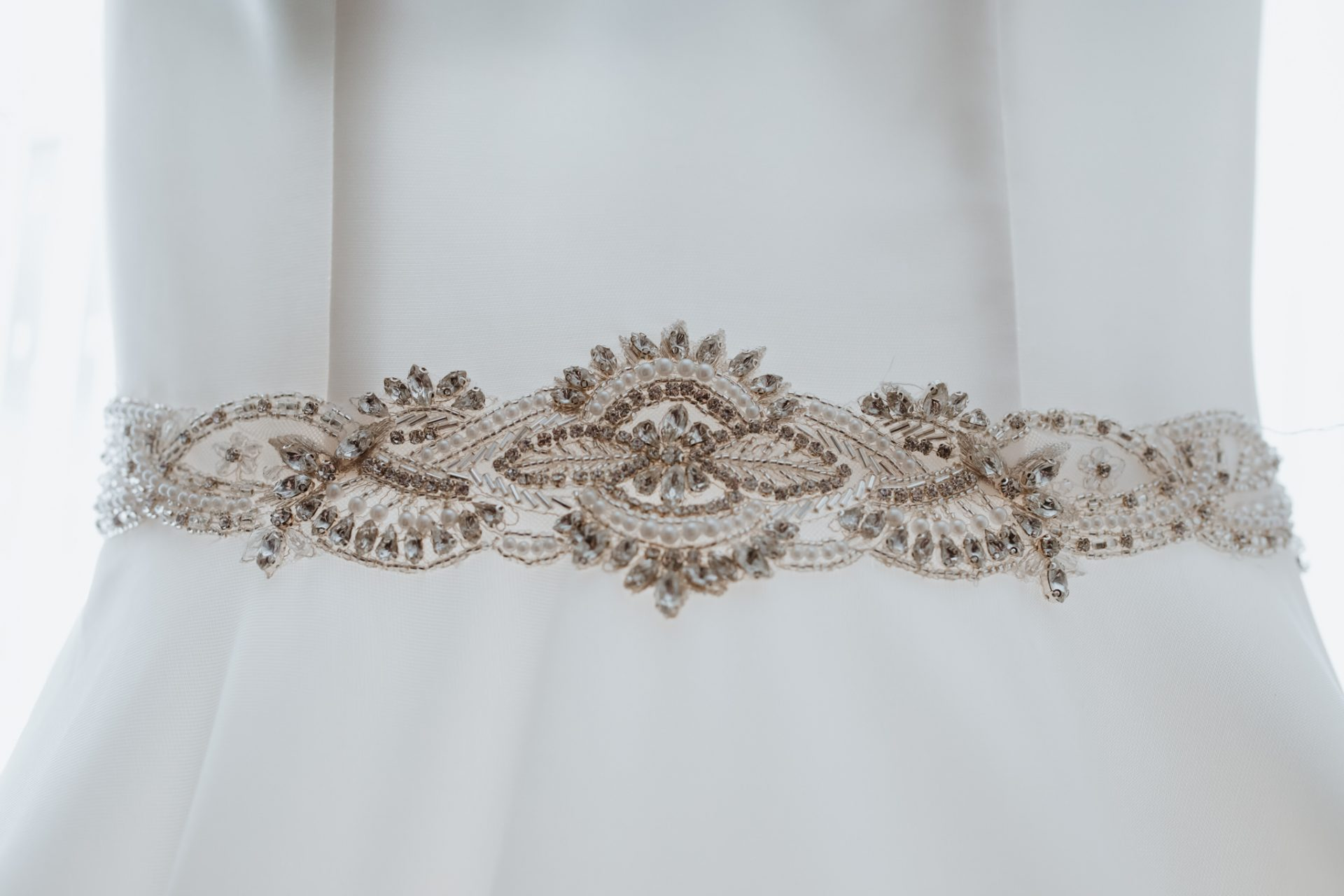 beaded detail wedding dress