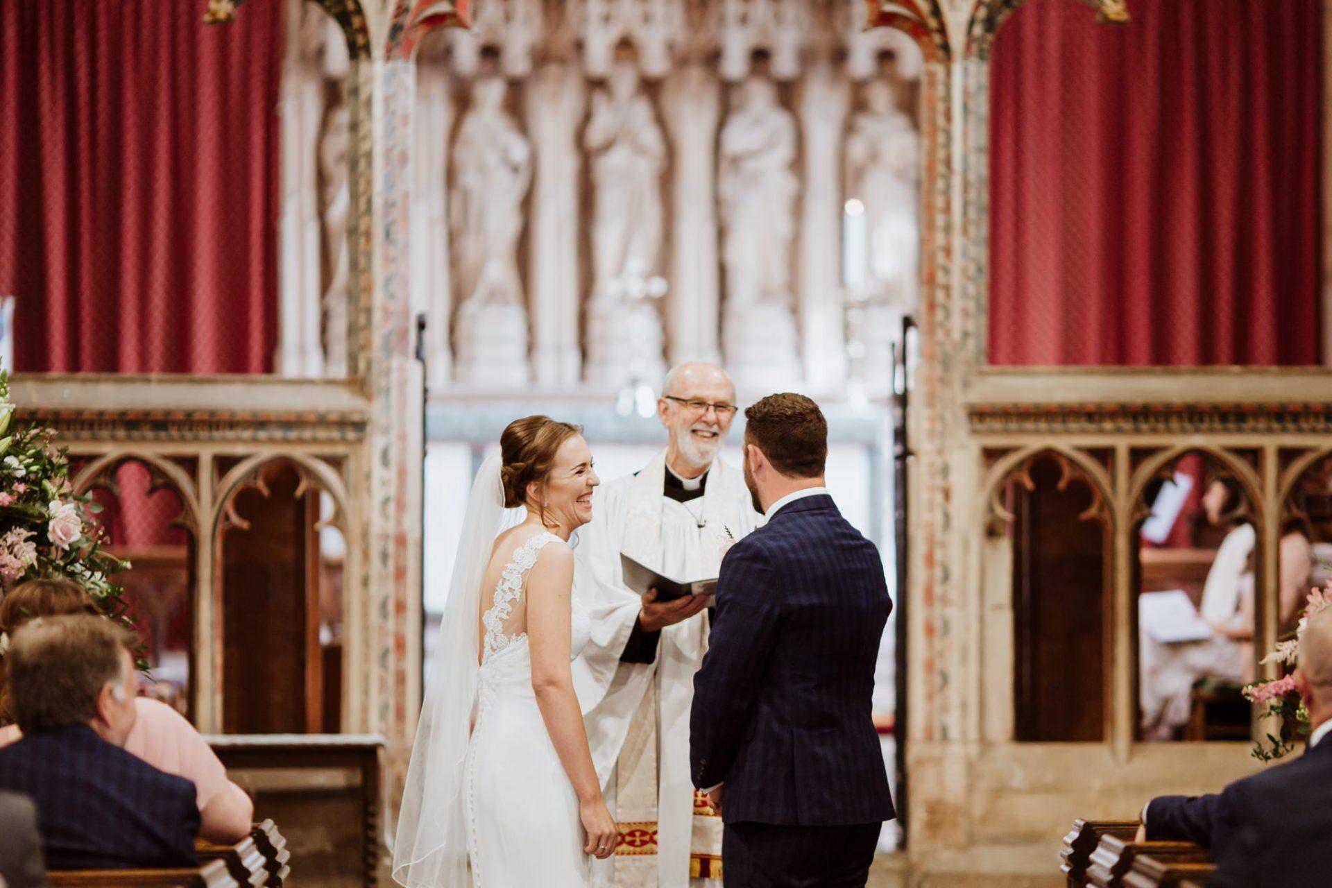 bride and groom wedding ceremony st mary's church berkeley
