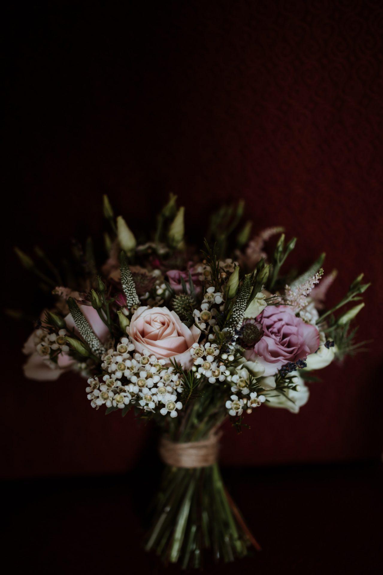 rustic vintage style wedding flowers