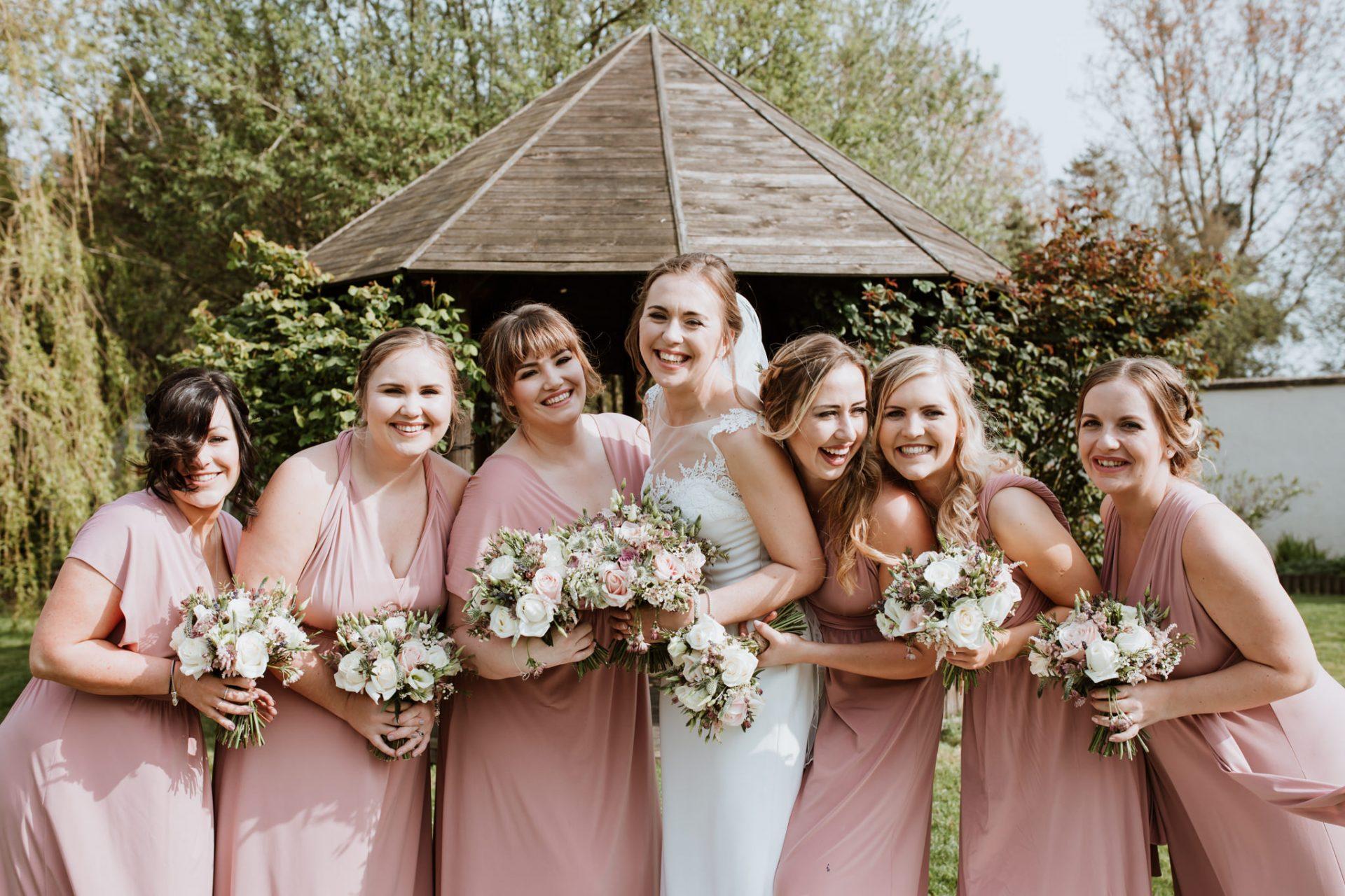 bridesmaid group photo
